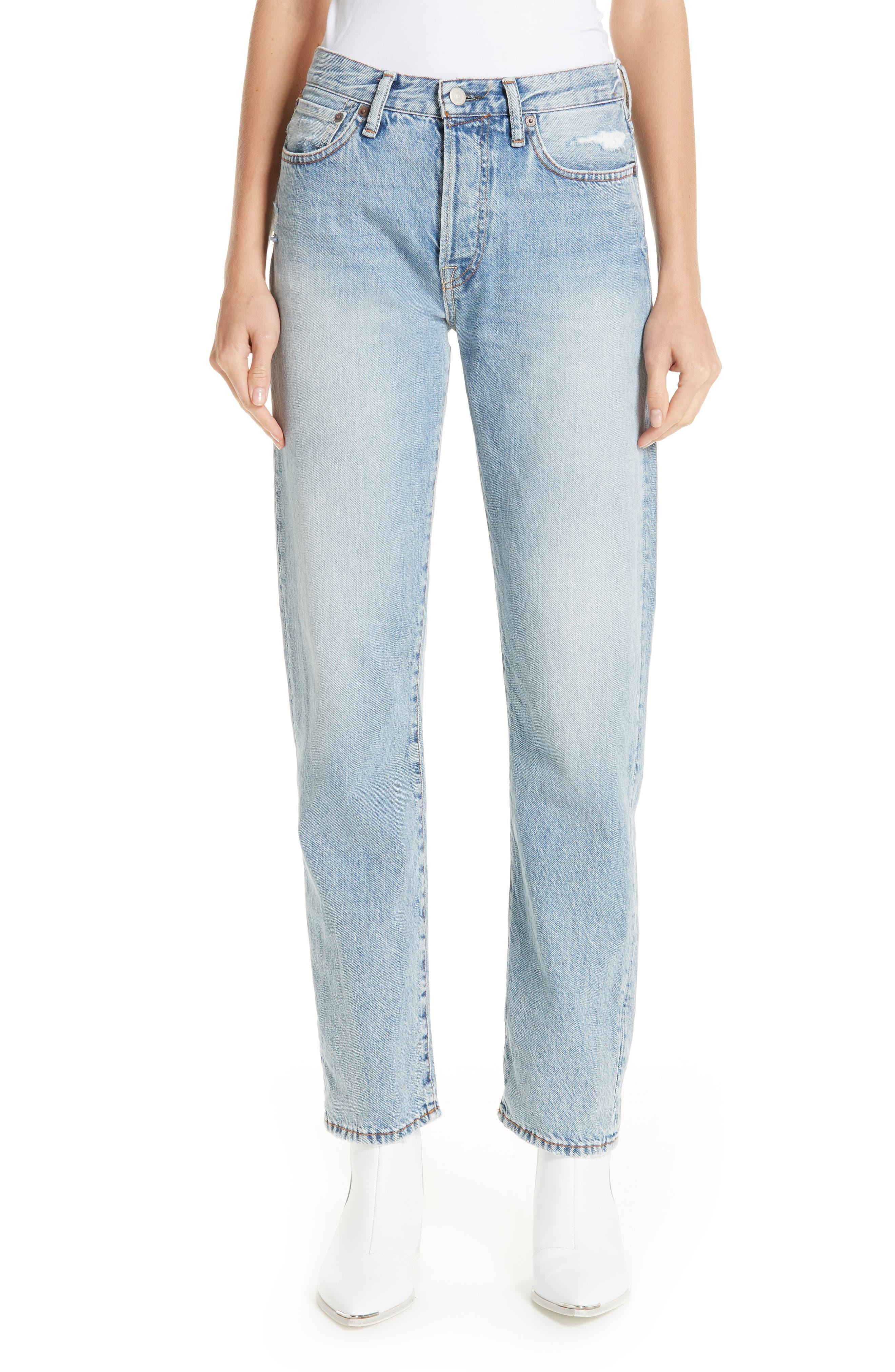 1997 Straight Leg Jeans,                             Main thumbnail 1, color,                             LIGHT BLUE