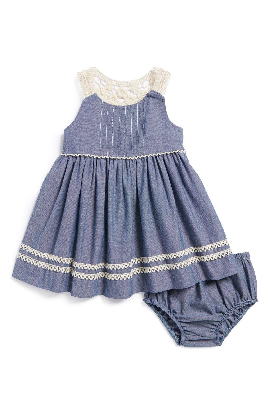 Chambray Dress & Bloomers,                         Main,                         color, 400