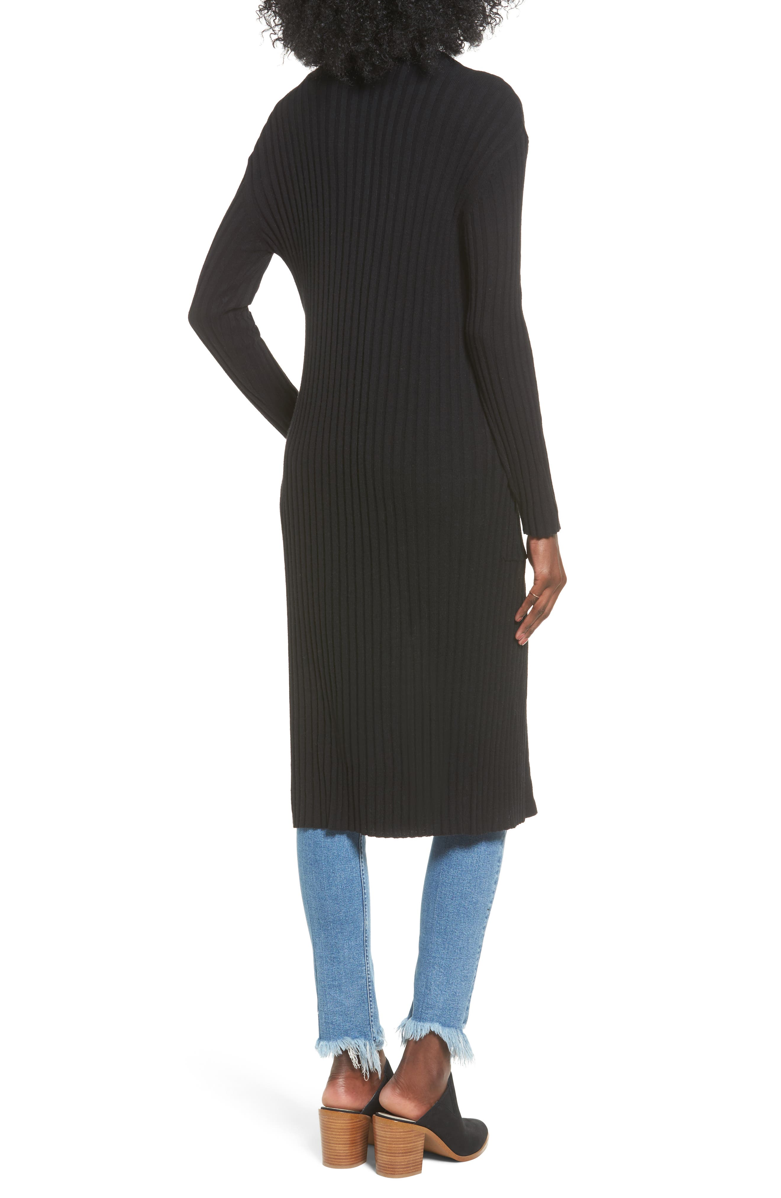 Rib Knit Midi Cardigan,                             Alternate thumbnail 5, color,