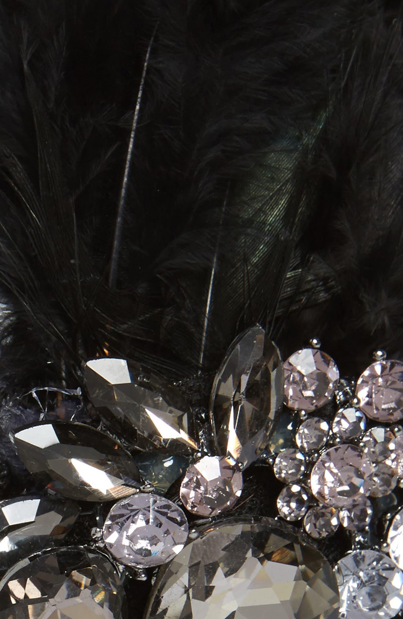Crystal Feather Headband,                             Alternate thumbnail 3, color,                             001