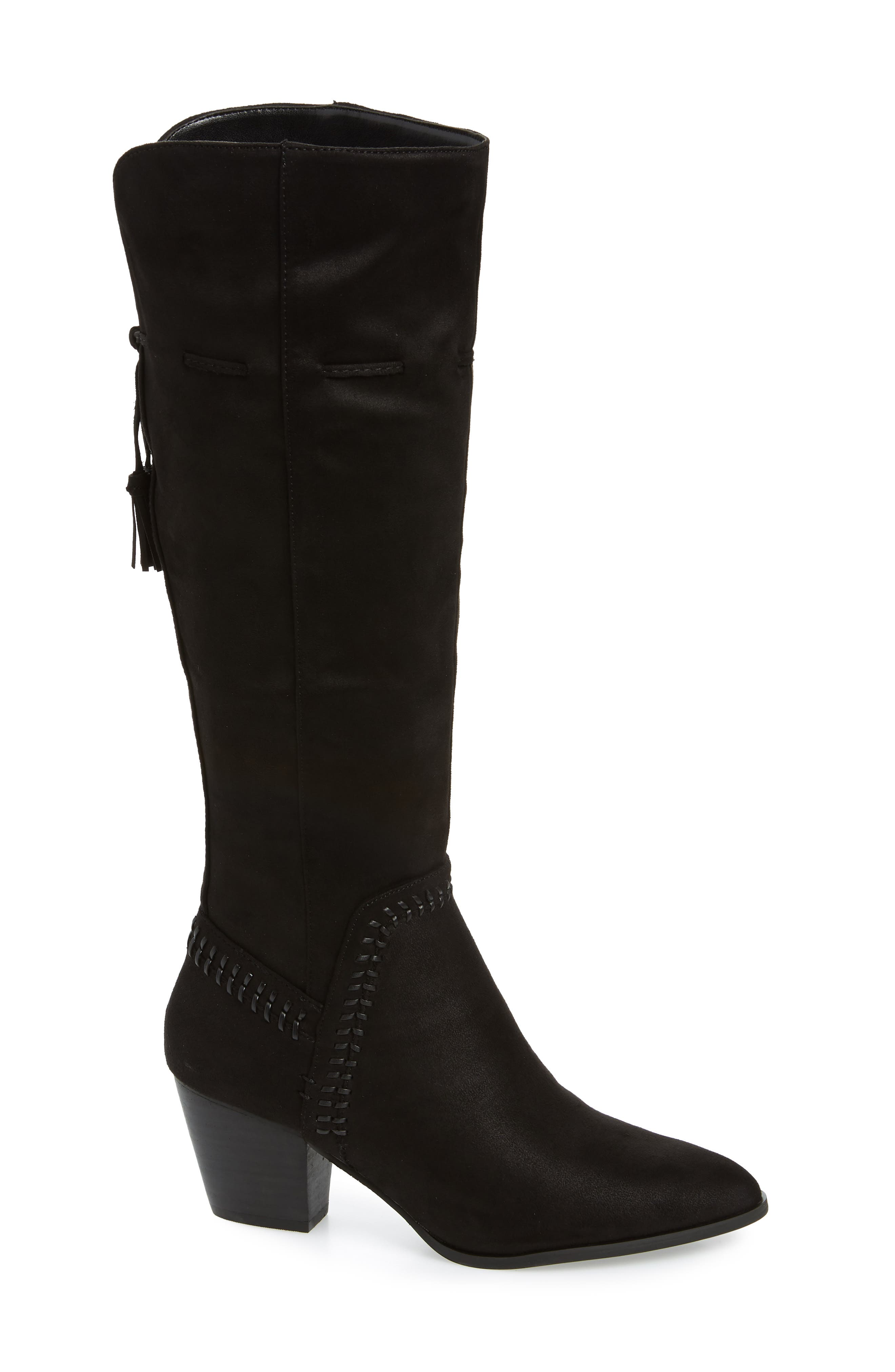 Eleanor II Knee High Boot,                             Main thumbnail 1, color,                             BLACK