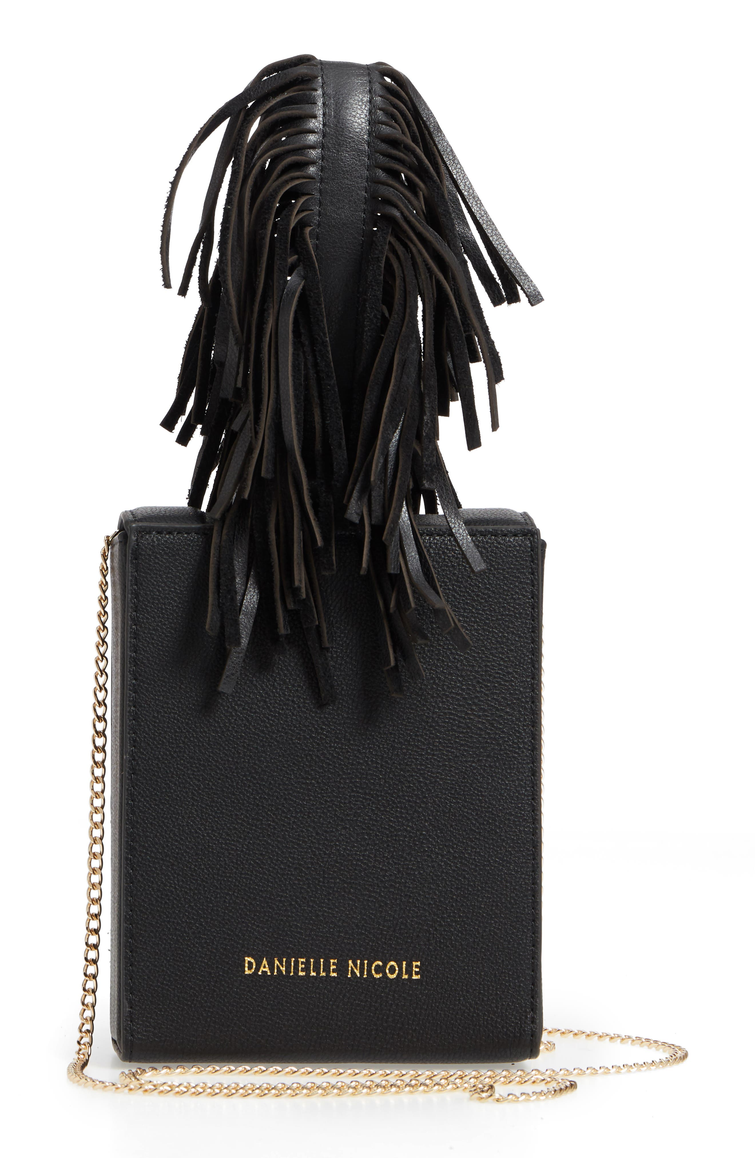 Alivia Leather Clutch,                             Alternate thumbnail 6, color,