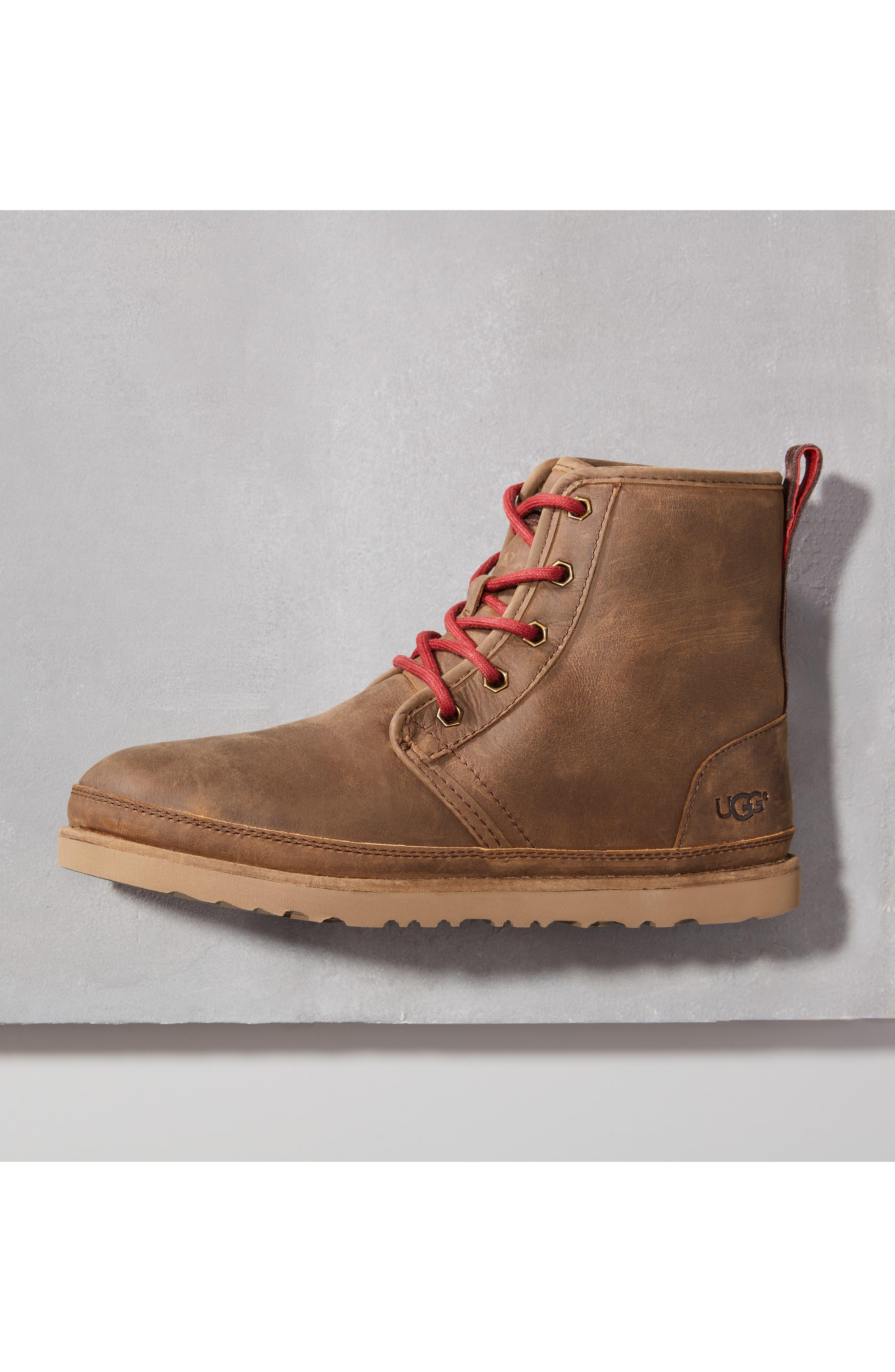 Harkley Plain Toe Boot,                             Alternate thumbnail 7, color,                             CHARCOAL