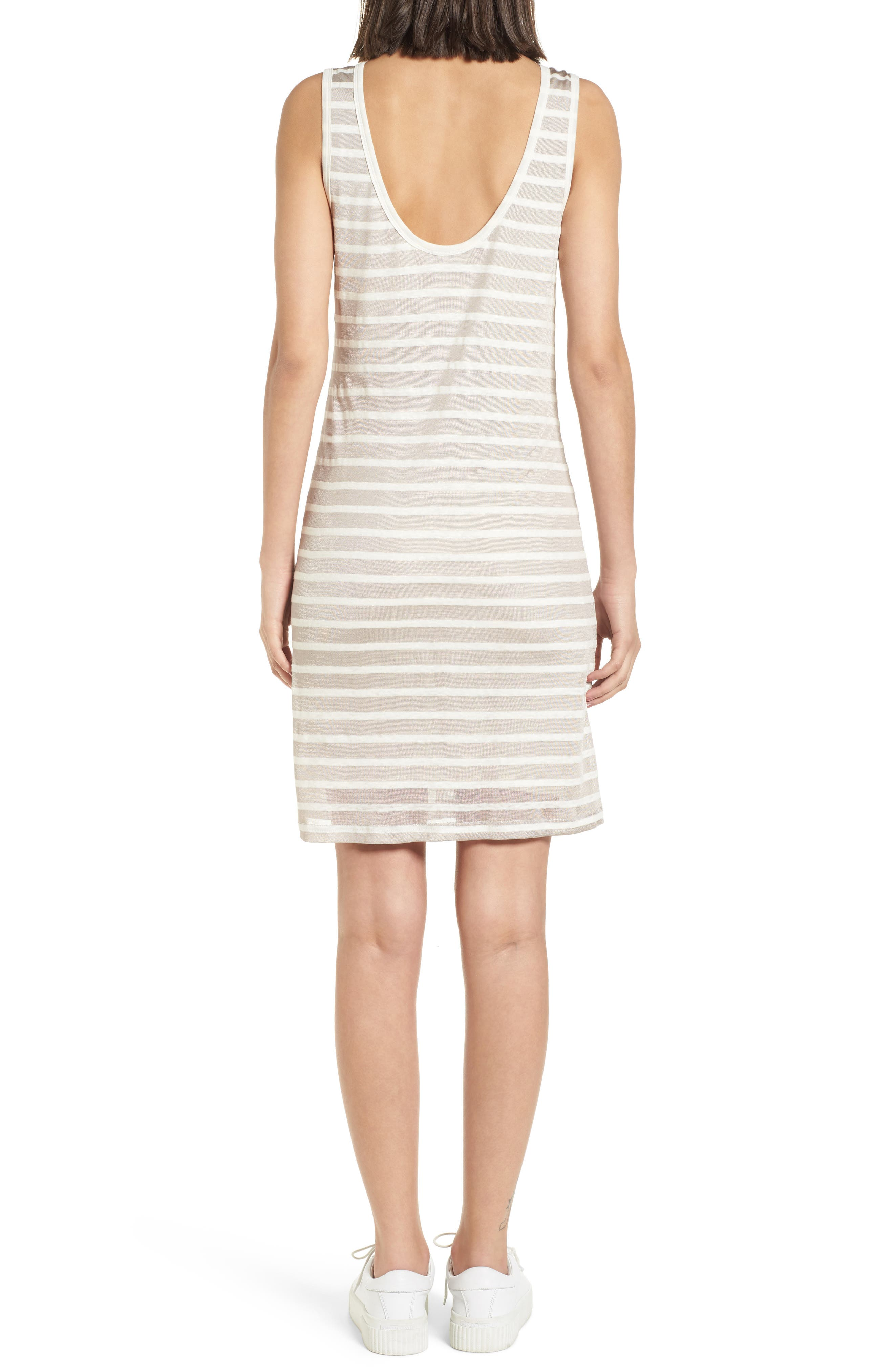 Stripe Linen Tank Dress,                             Alternate thumbnail 2, color,                             260