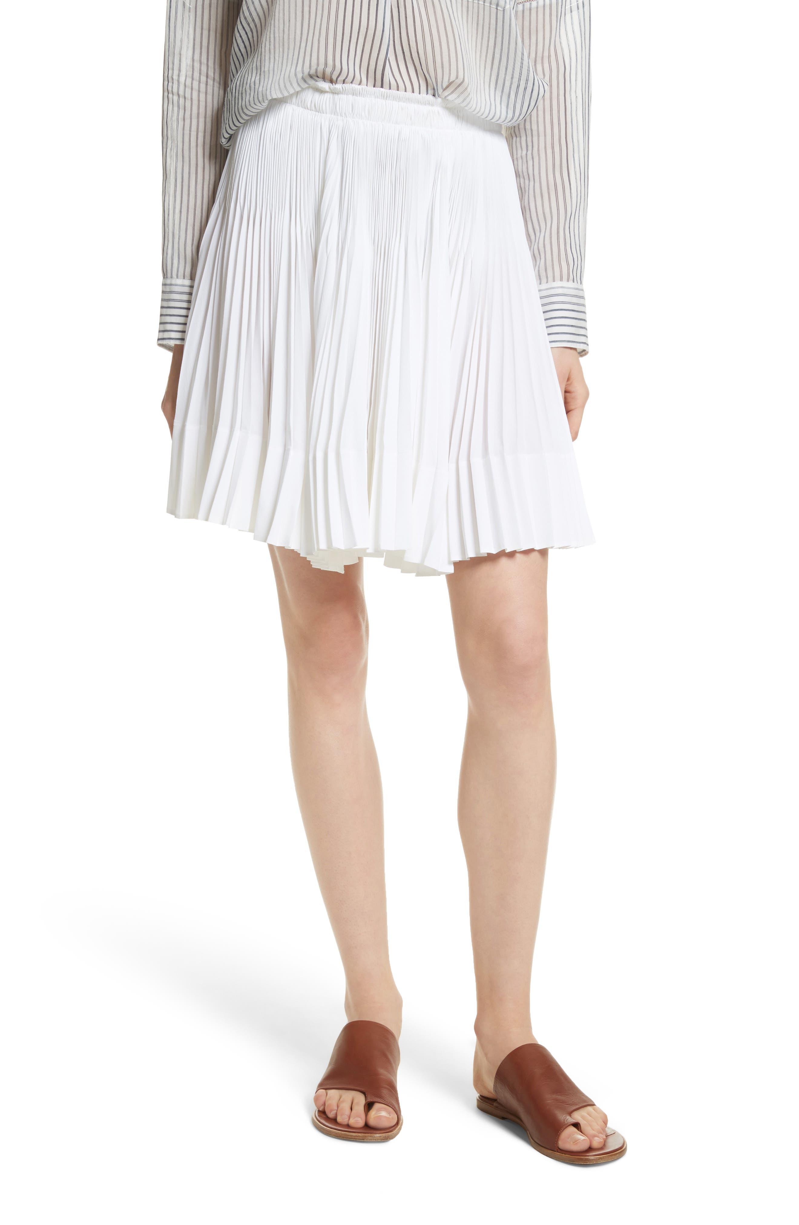 VINCE,                             Multi Pleat Skirt,                             Main thumbnail 1, color,                             137