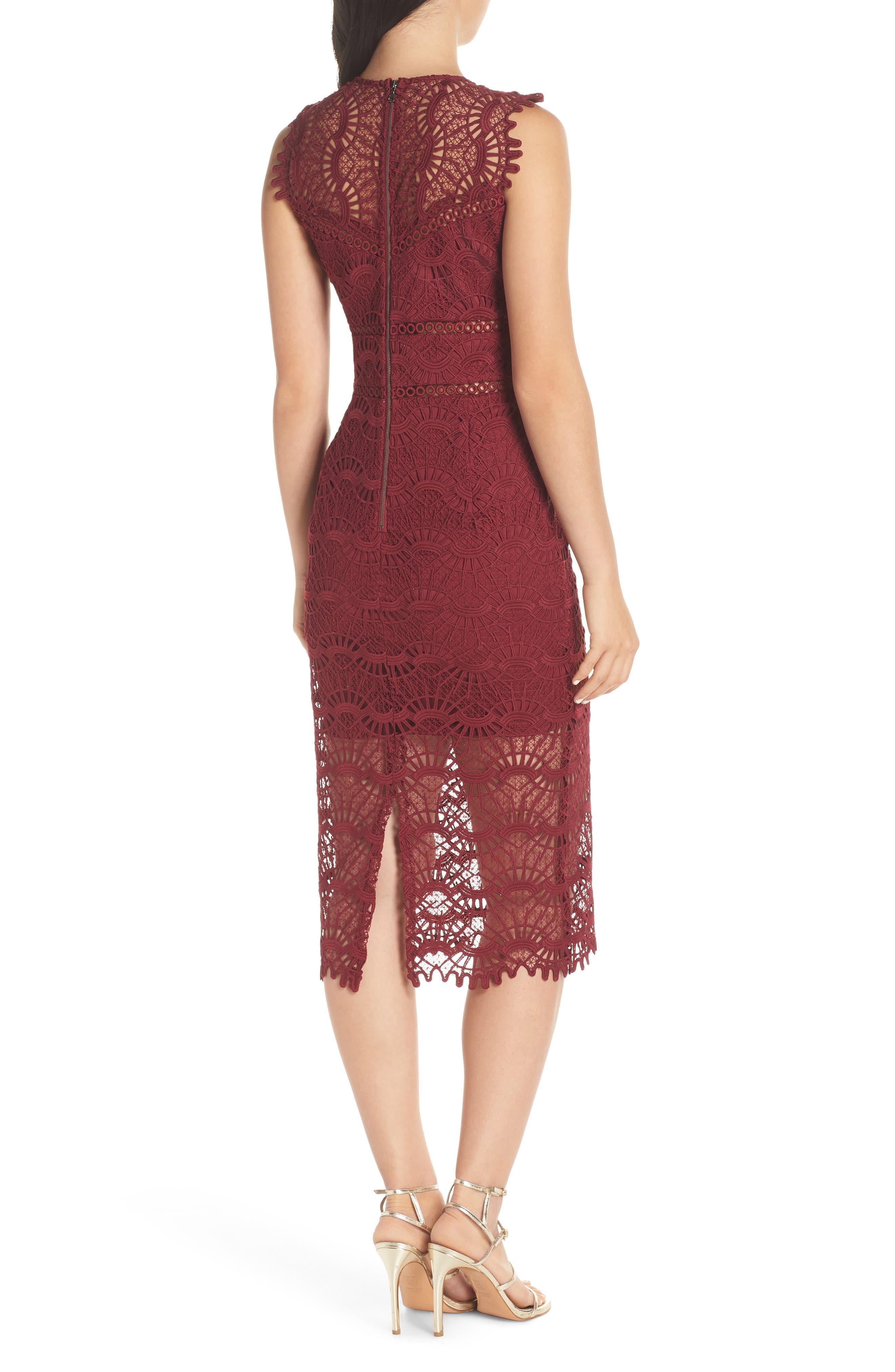 Mariano Lace Sheath Dress,                             Alternate thumbnail 2, color,                             601