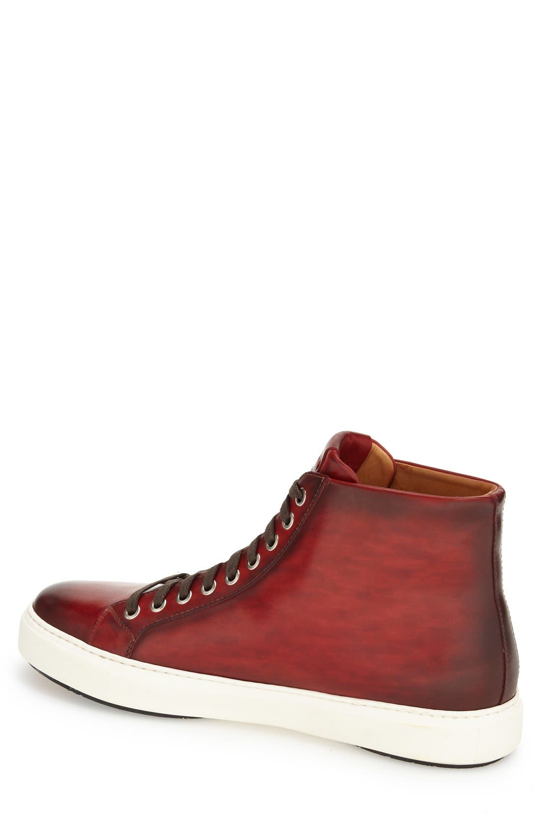 Brando High Top Sneaker,                             Alternate thumbnail 2, color,                             RED