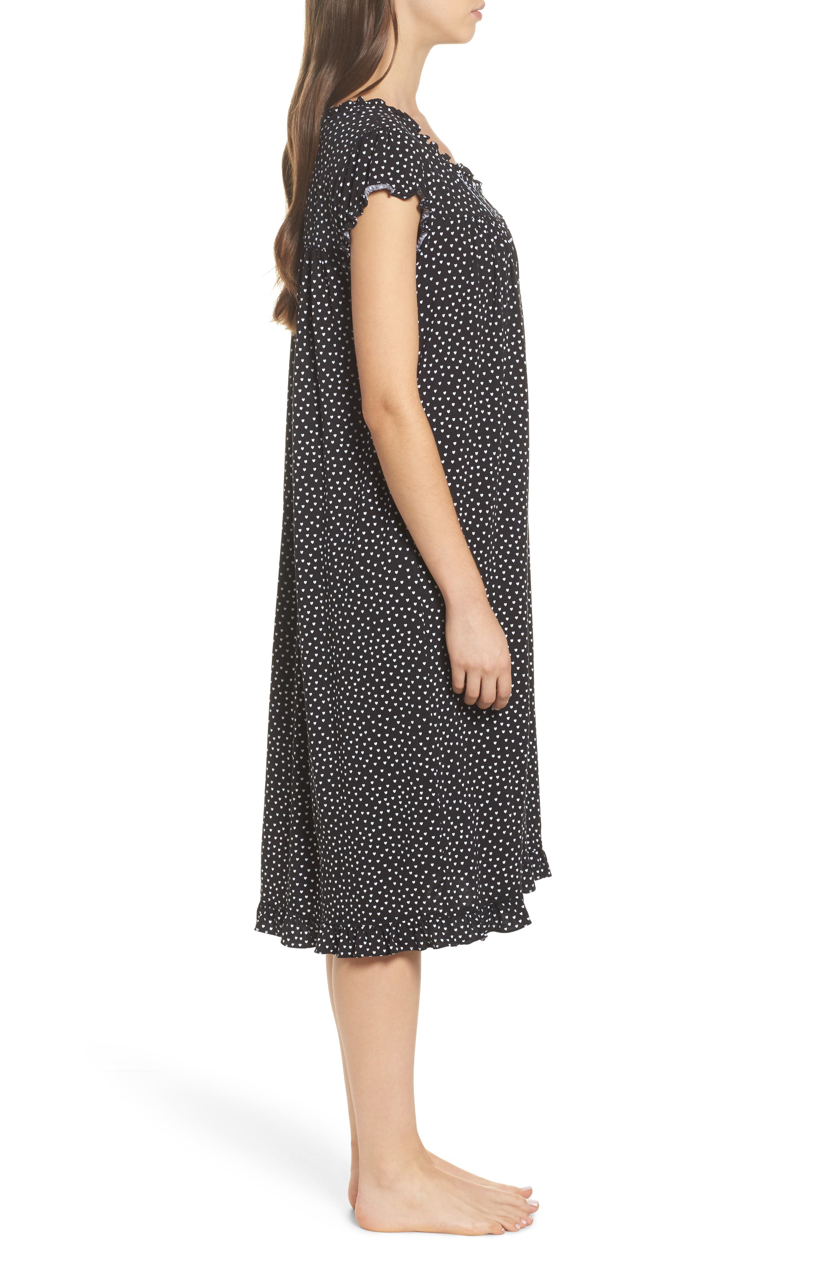 Modal Jersey Nightgown,                             Alternate thumbnail 3, color,                             001
