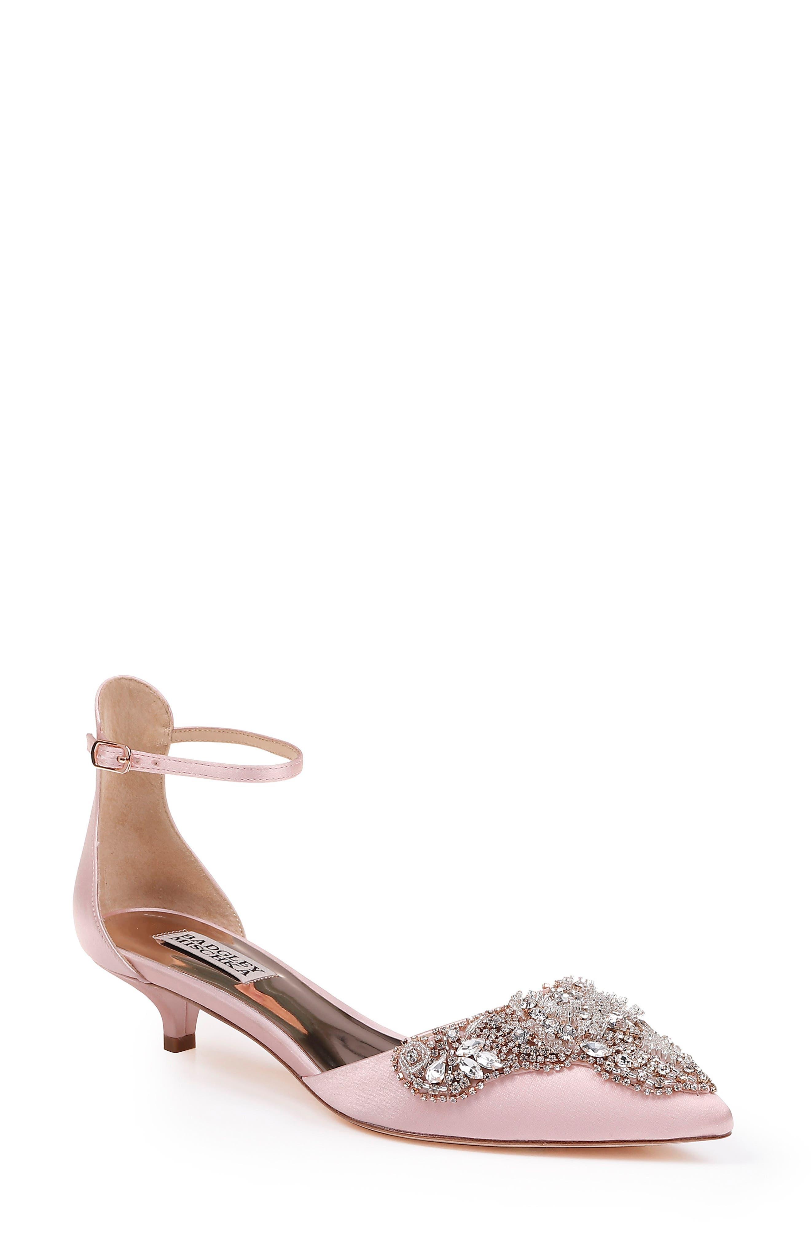 Badgley Mischka Fiana Ankle Strap Pump- Pink