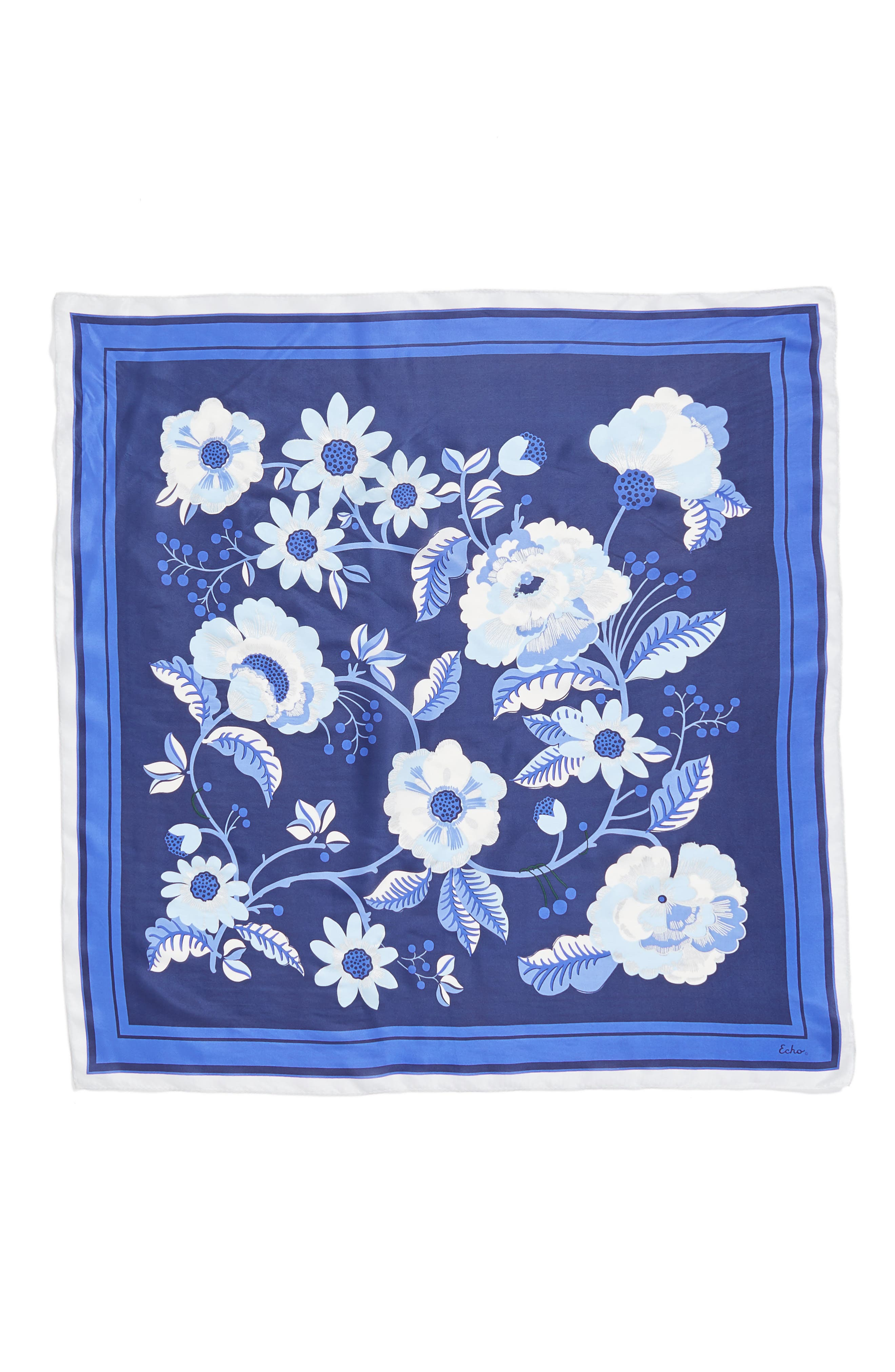Bloomsbury Square Silk Scarf,                             Alternate thumbnail 3, color,                             411