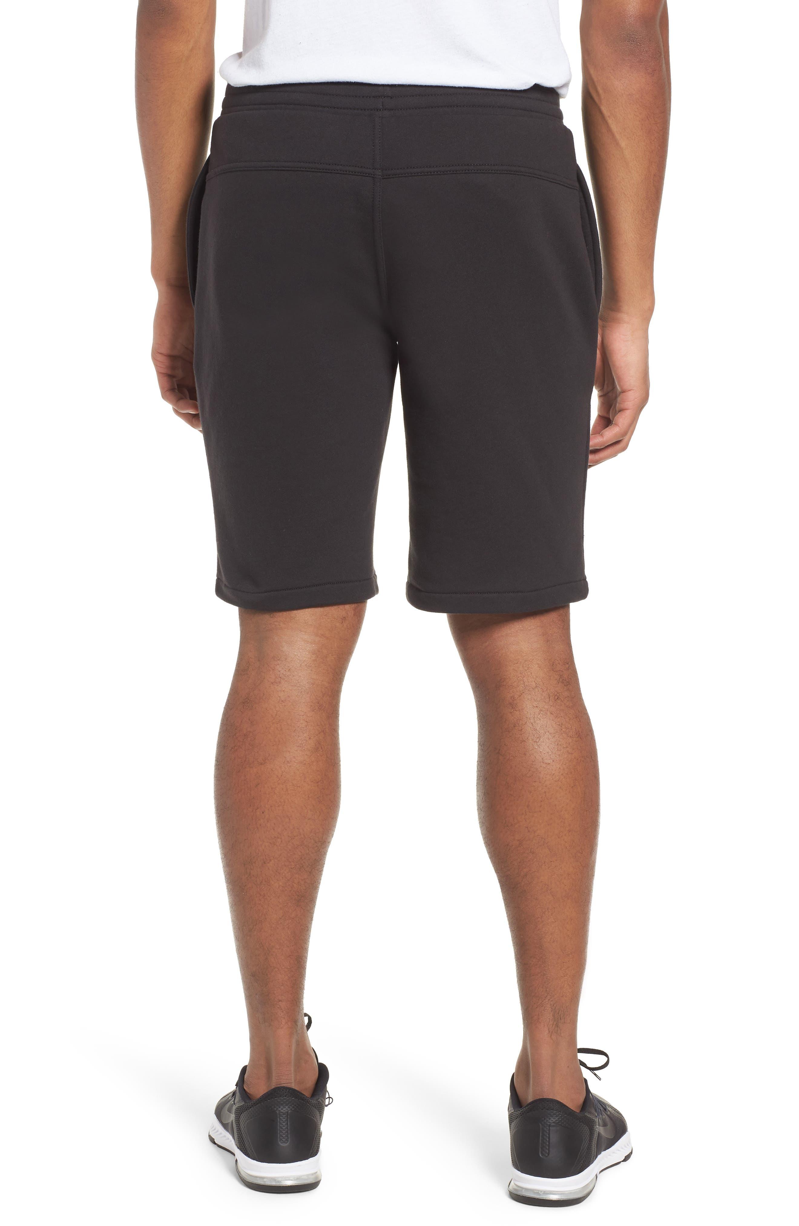 Logo Jogger Shorts,                             Alternate thumbnail 2, color,                             BLACK LINEAR