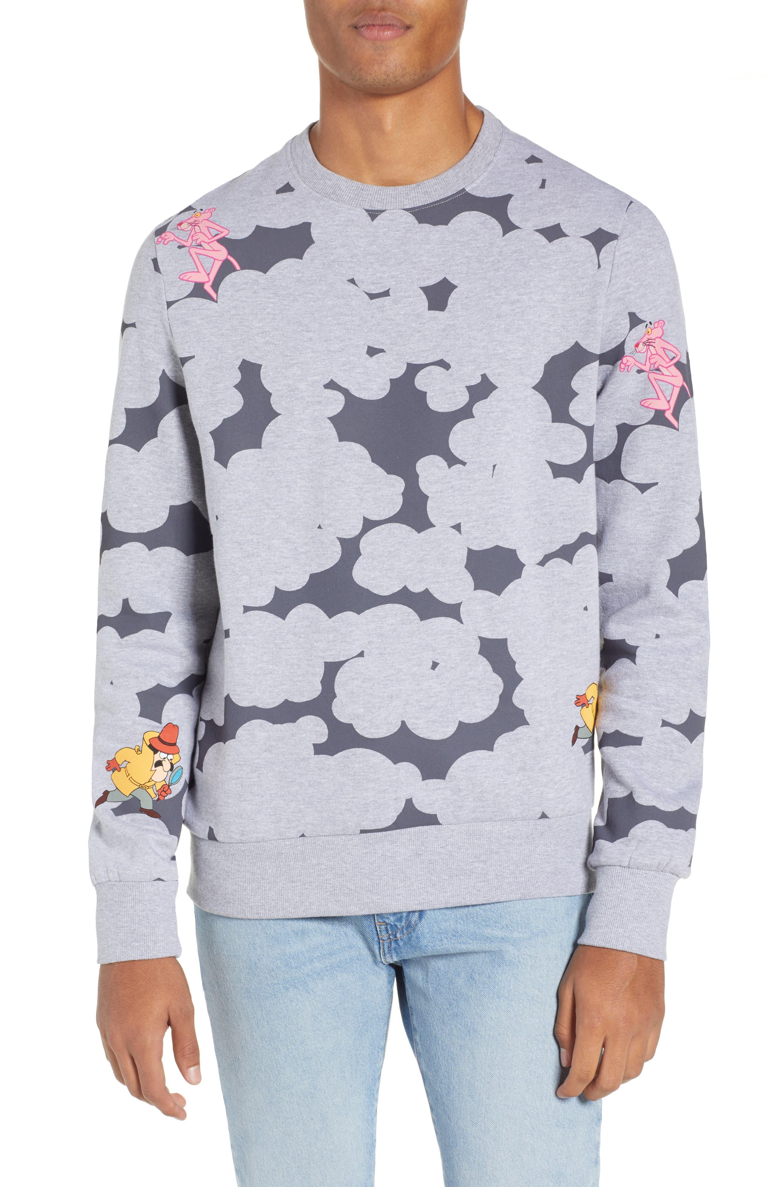 ELEVENPARIS Pink Panther Camo Sweatshirt in Black