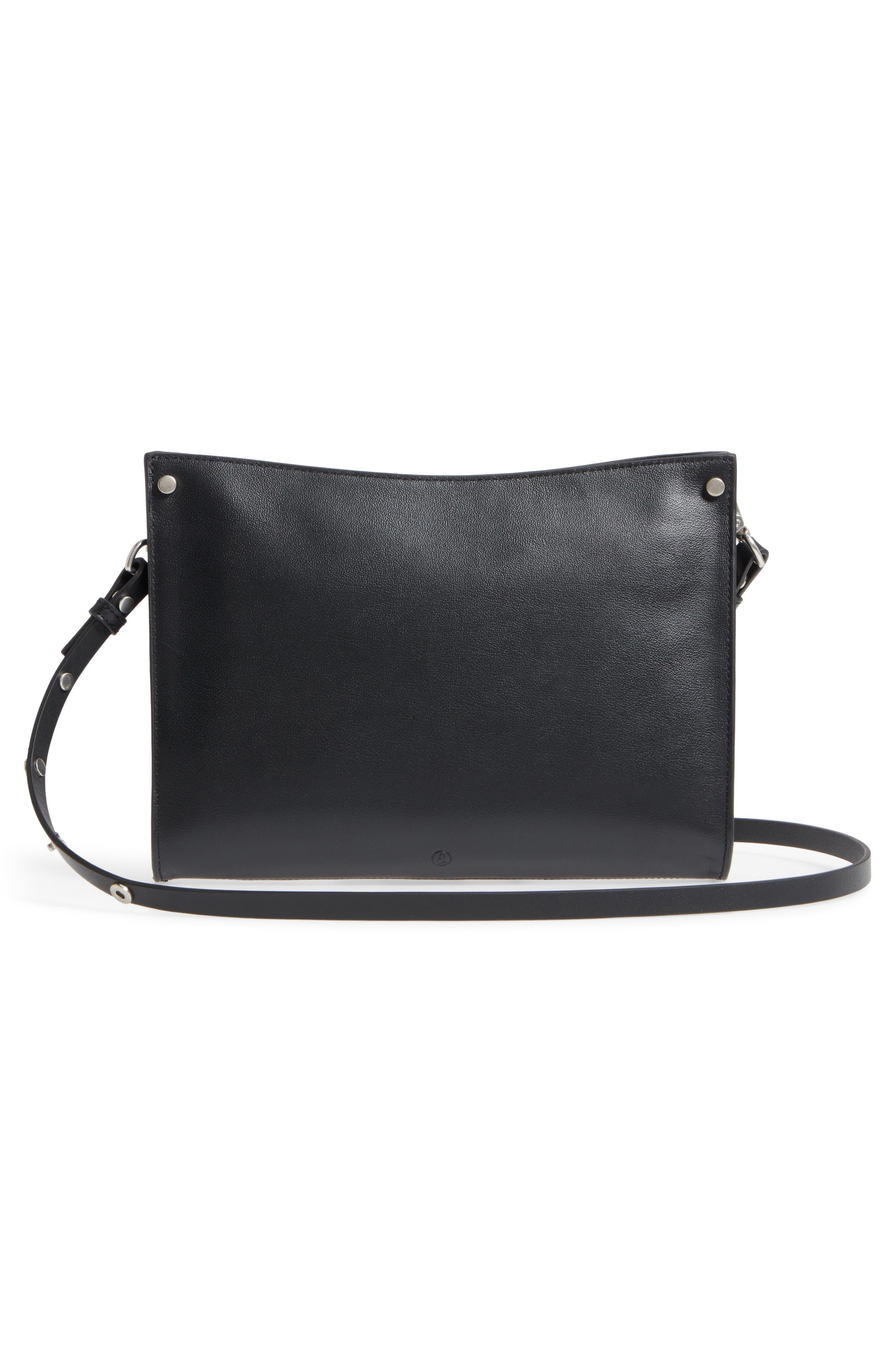 Harrison Leather Crossbody Bag,                             Alternate thumbnail 3, color,                             001