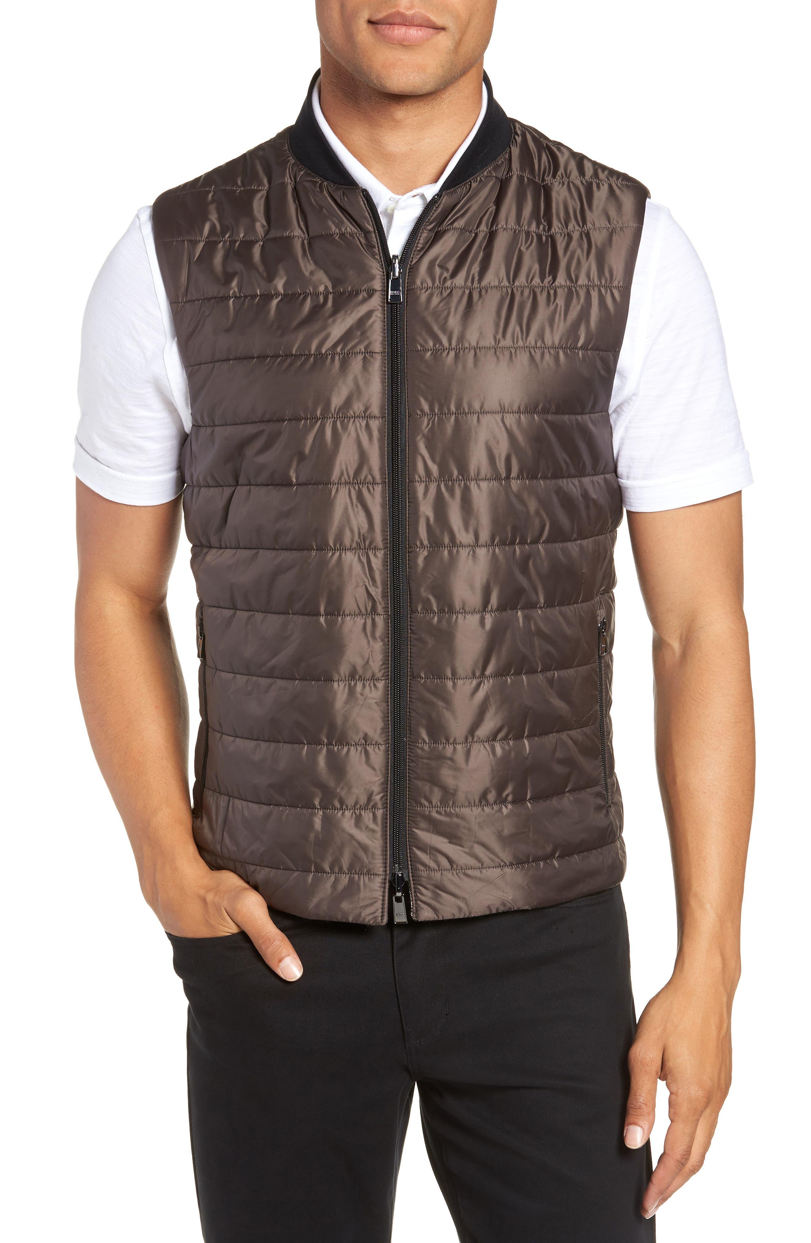 Nanon Trim Fit Plaid Wool Blend Sport Coat,                             Alternate thumbnail 4, color,                             BLACK