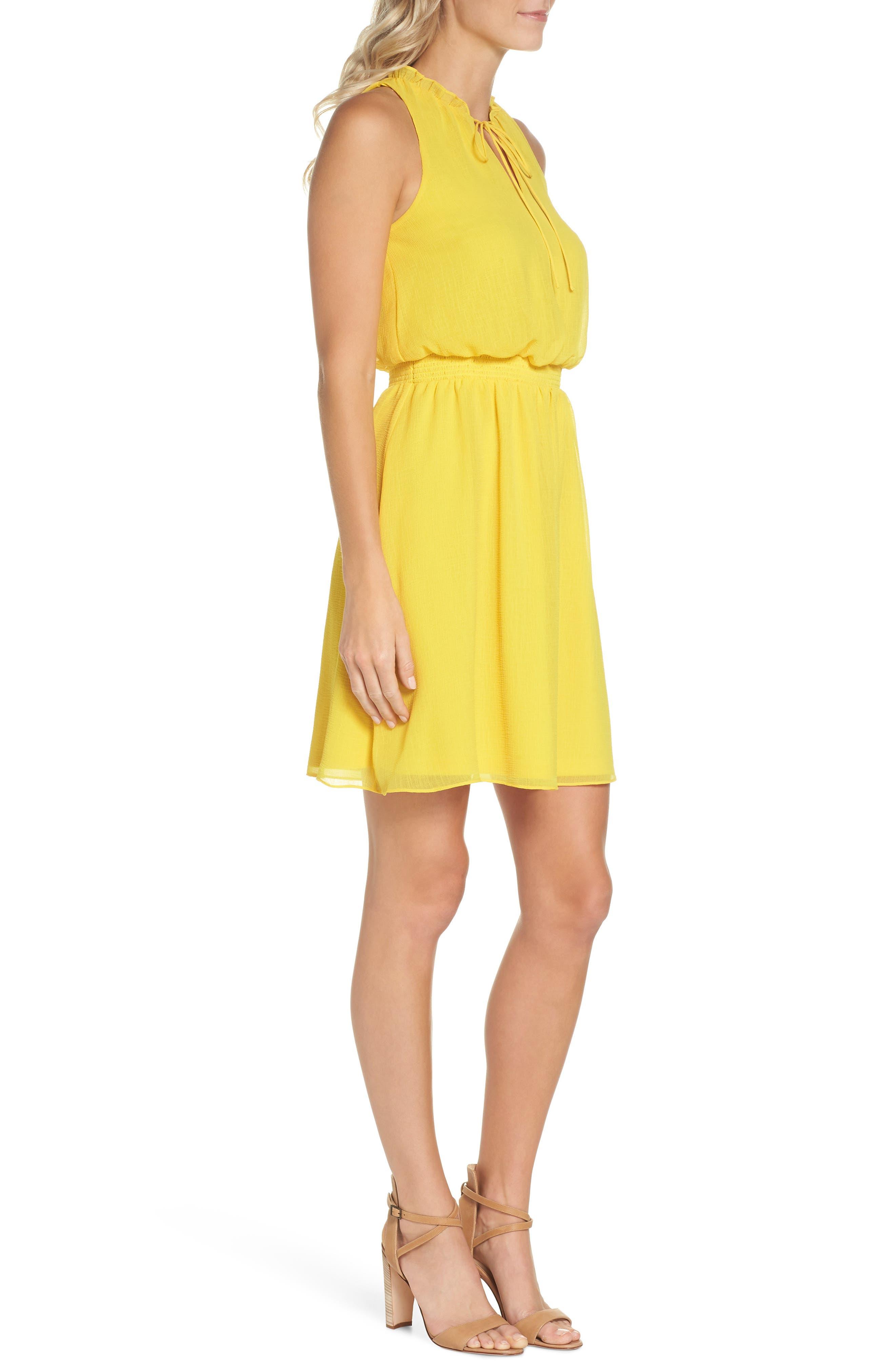 Sleeveless Chiffon Blouson Dress,                             Alternate thumbnail 3, color,                             724