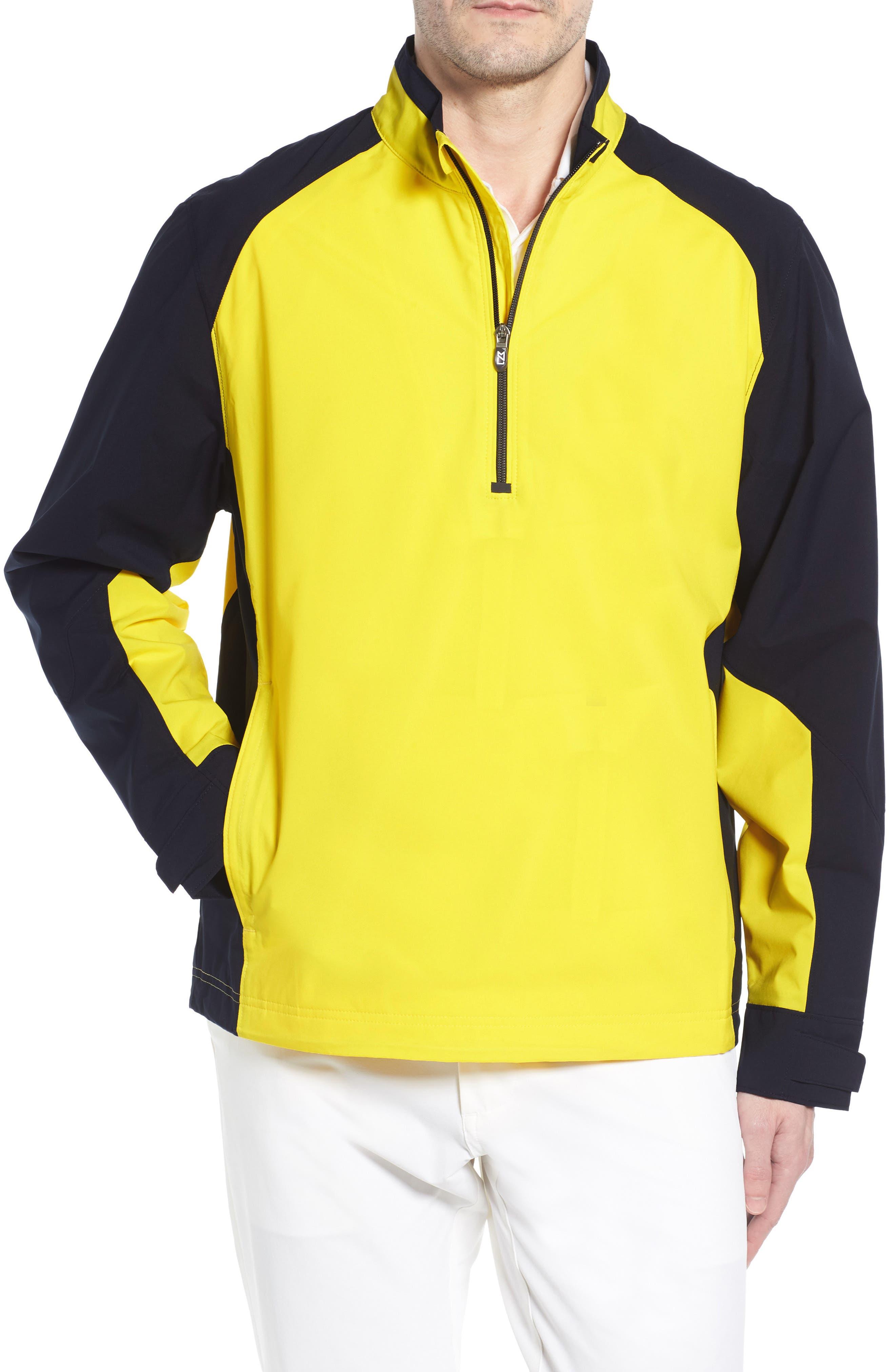 'Summit' WeatherTec Wind & Water Resistant Half Zip Jacket, Main, color, GALAXY