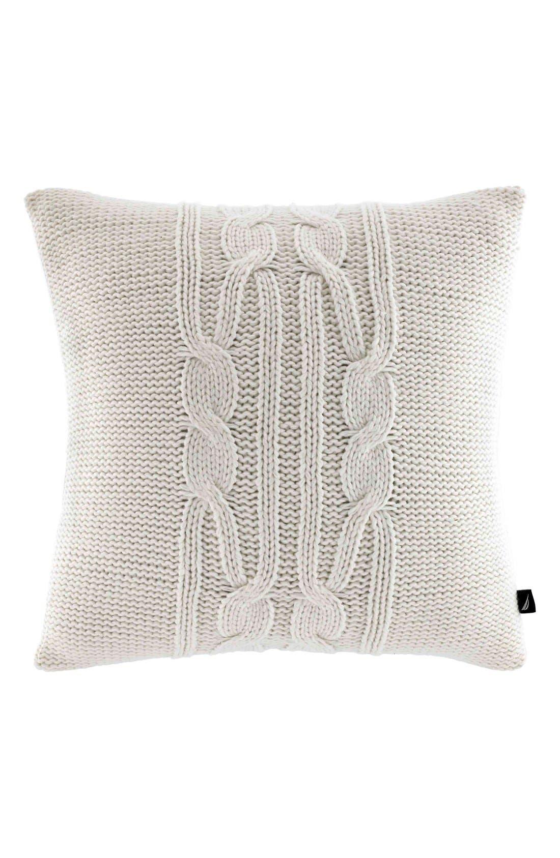 'Seaward' Knit Pillow,                             Main thumbnail 1, color,                             104