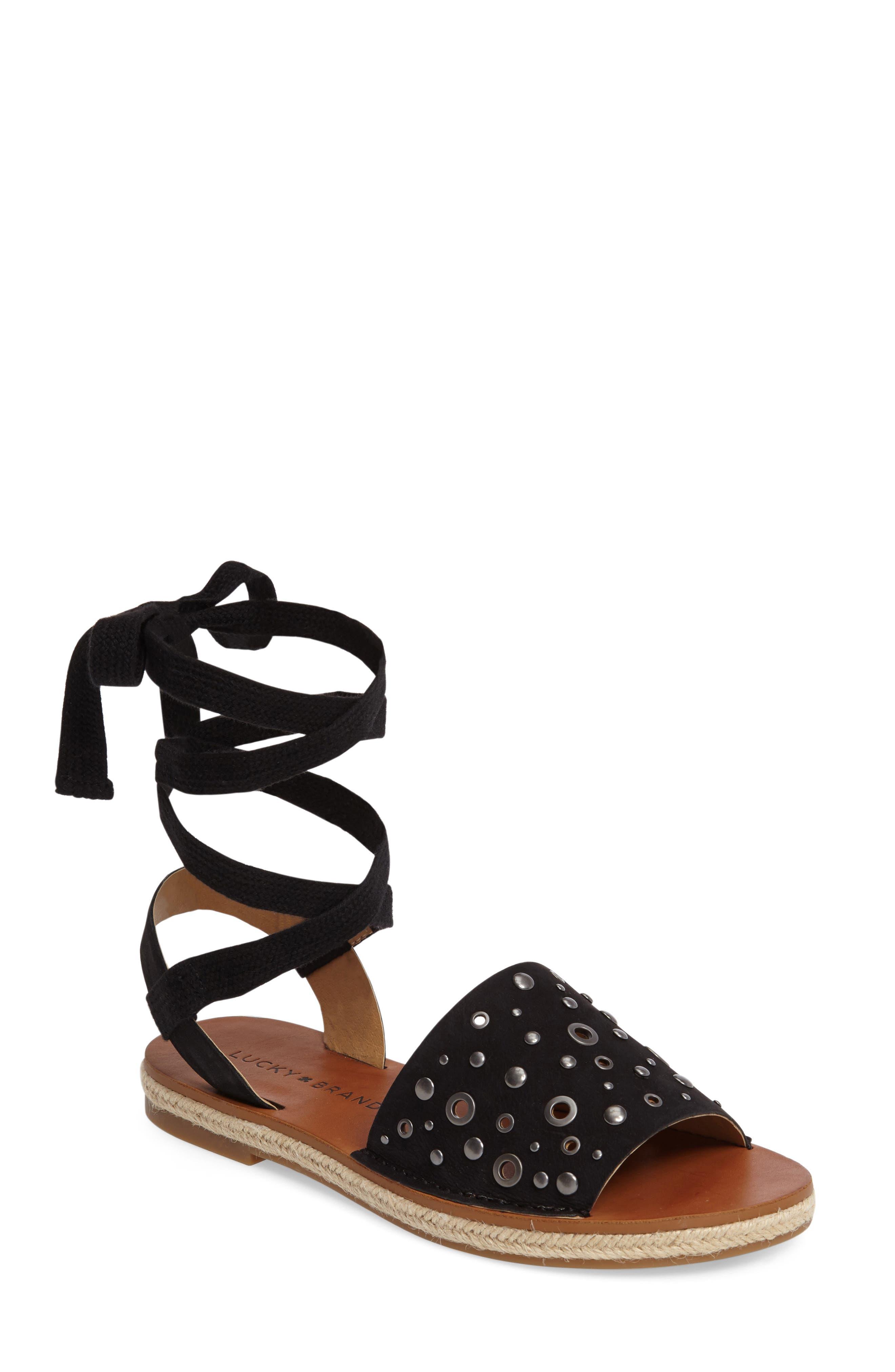 Daytah Ankle Tie Sandal,                             Main thumbnail 1, color,