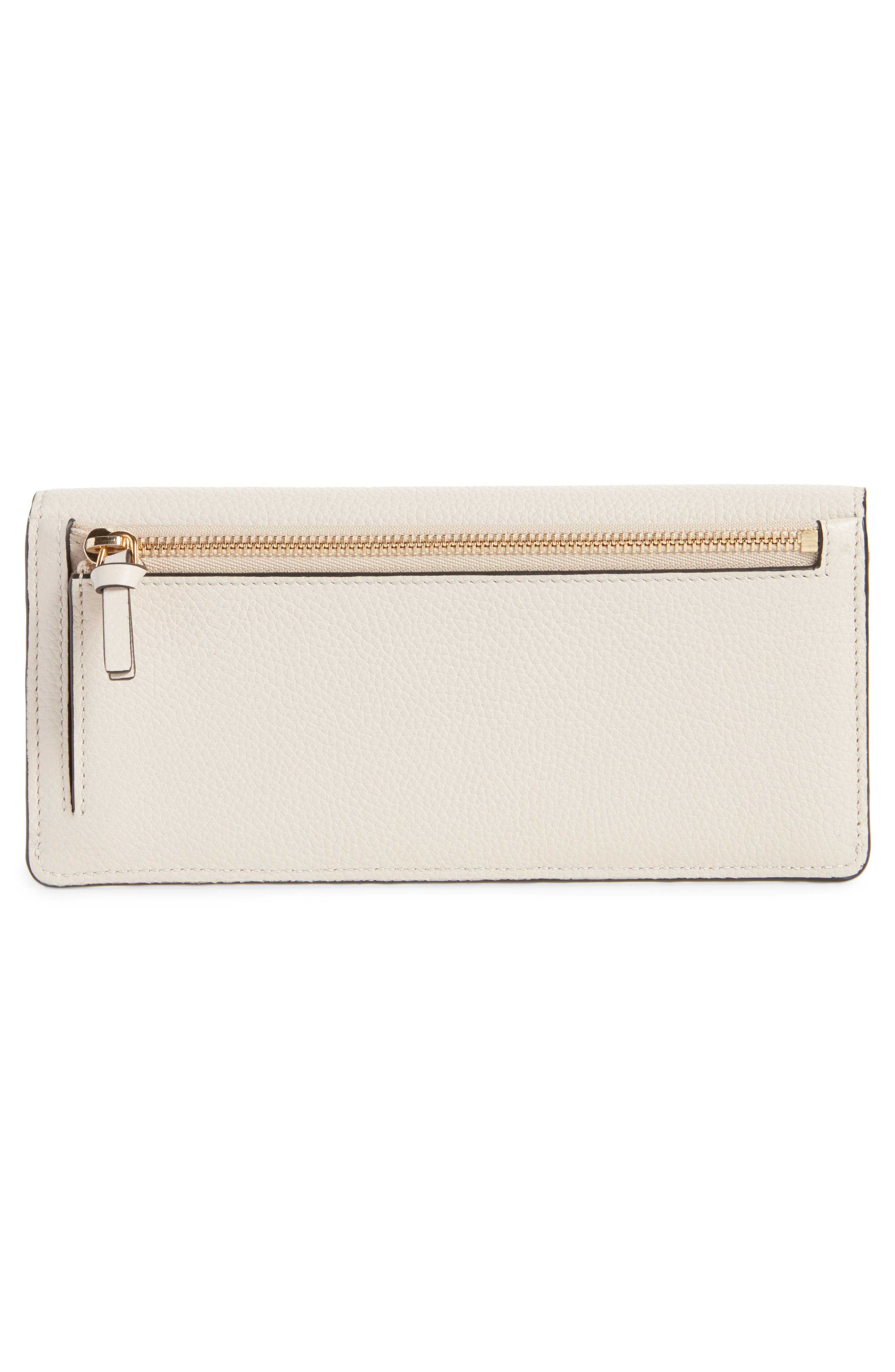 Georgia Continental Leather Wallet,                             Alternate thumbnail 3, color,                             ABSTRACT WHITE