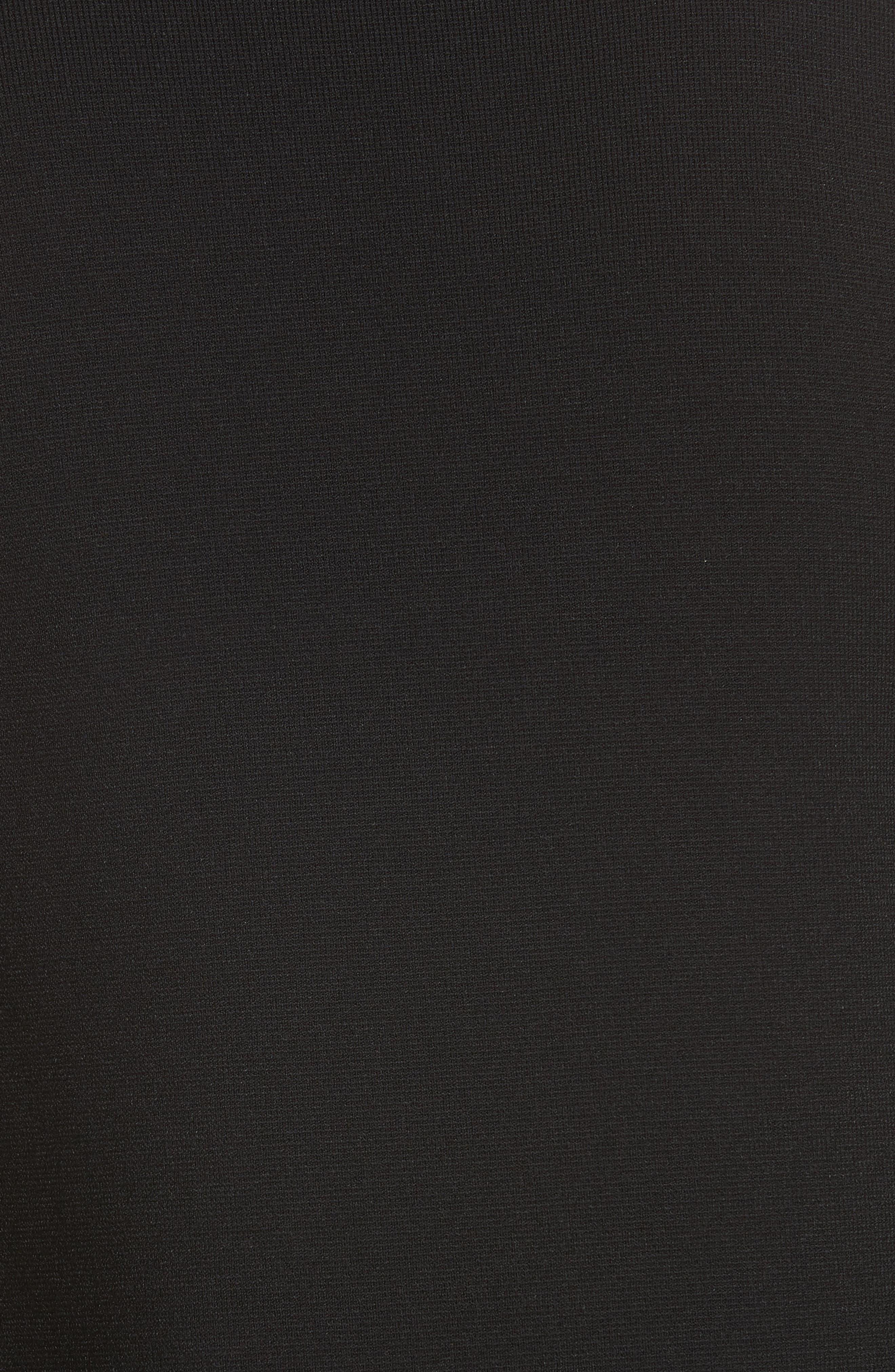 Retha Side Stripe Sweater,                             Alternate thumbnail 5, color,                             BLACK