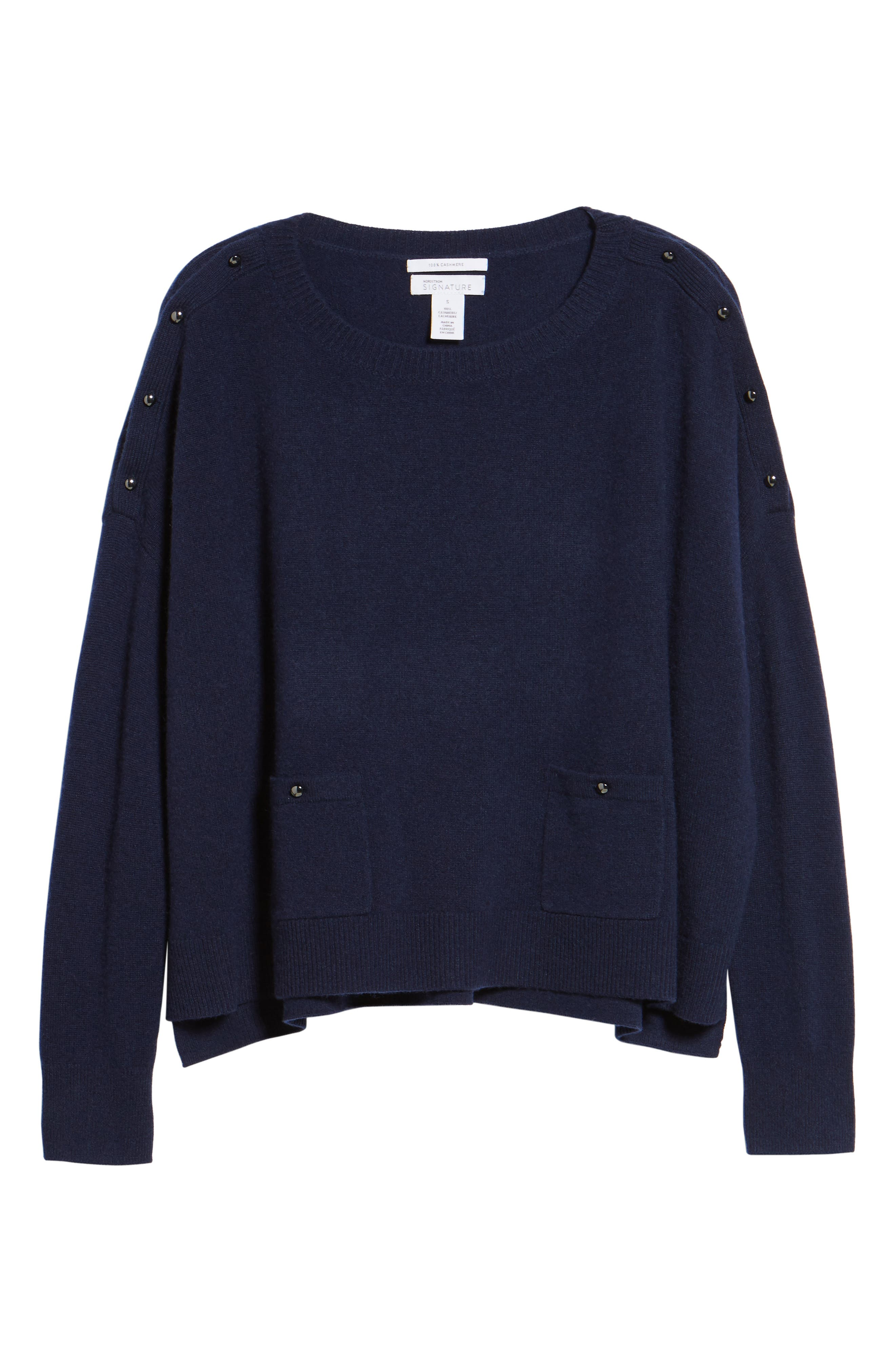Button Detail Cashmere Sweater,                             Alternate thumbnail 12, color,