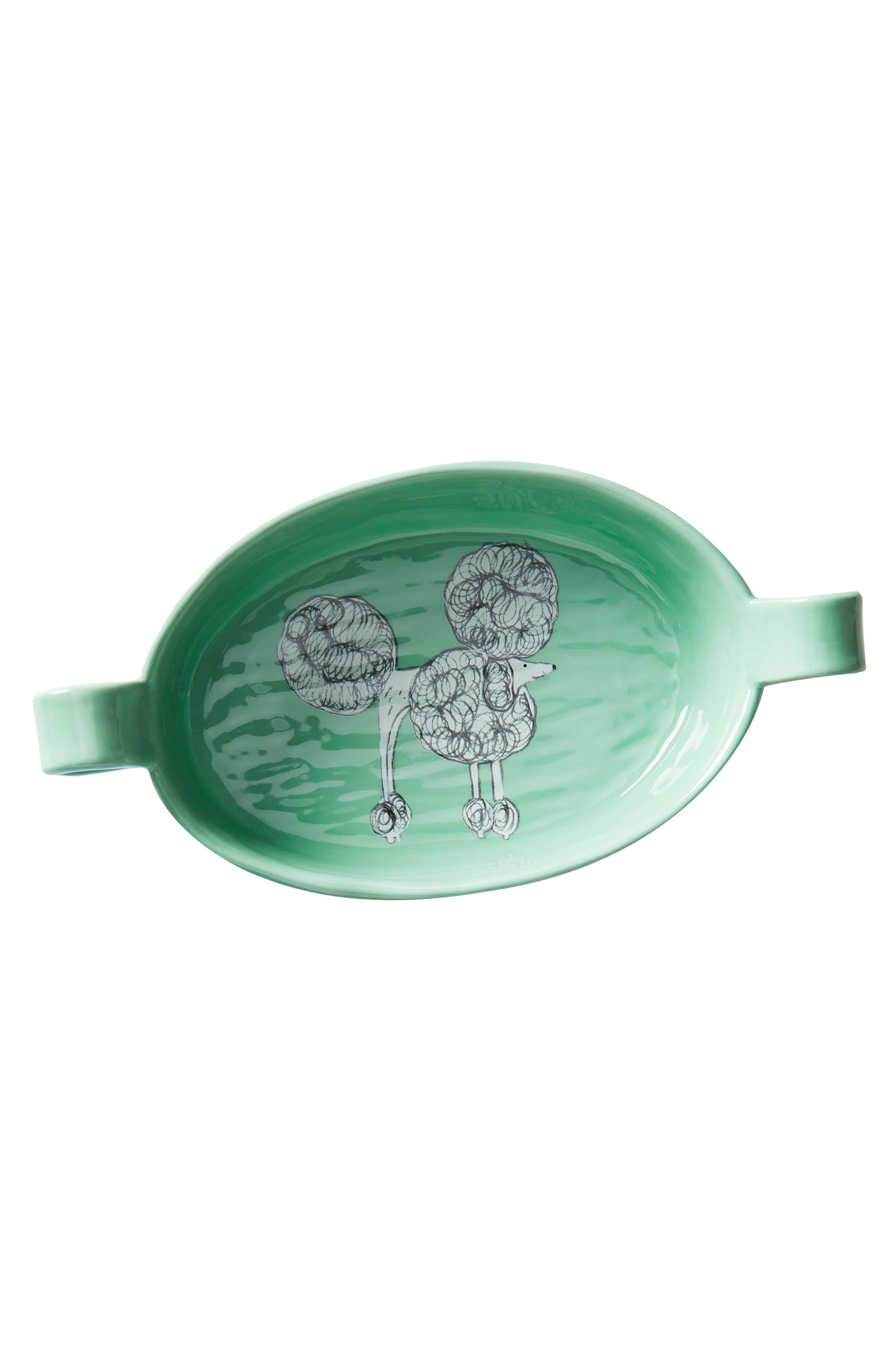 Painted Pup Stoneware Gratin Dish,                             Alternate thumbnail 3, color,