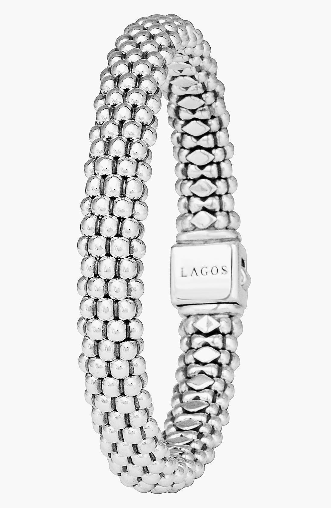 Caviar Rope Bracelet,                             Alternate thumbnail 6, color,                             SILVER