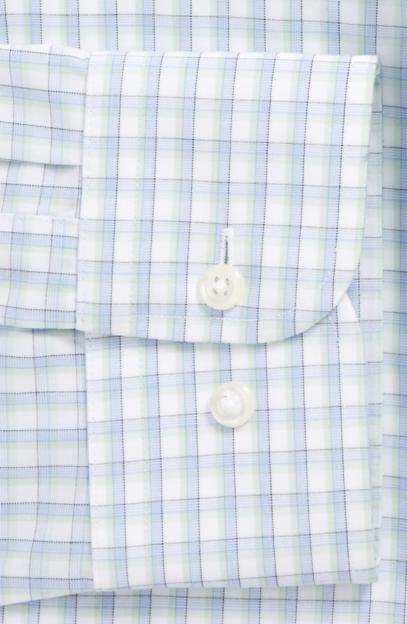 Smartcare<sup>™</sup> Trim Fit Check Dress Shirt,                             Alternate thumbnail 2, color,                             330