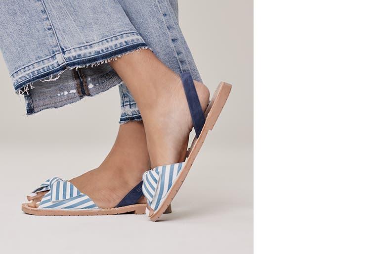 Women's sandal trends.