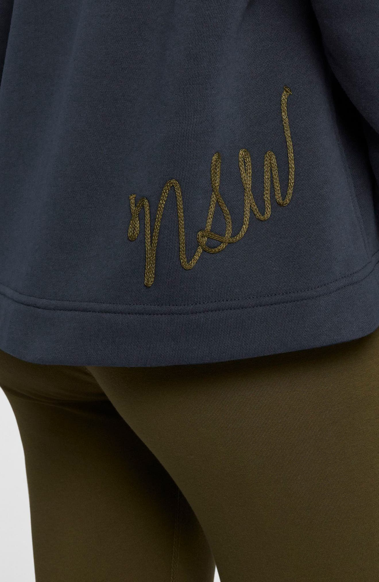 NIKE,                             Sportswear NSW Women's Fleece Hoodie,                             Alternate thumbnail 7, color,                             DARK OBSIDIAN/ OLIVE