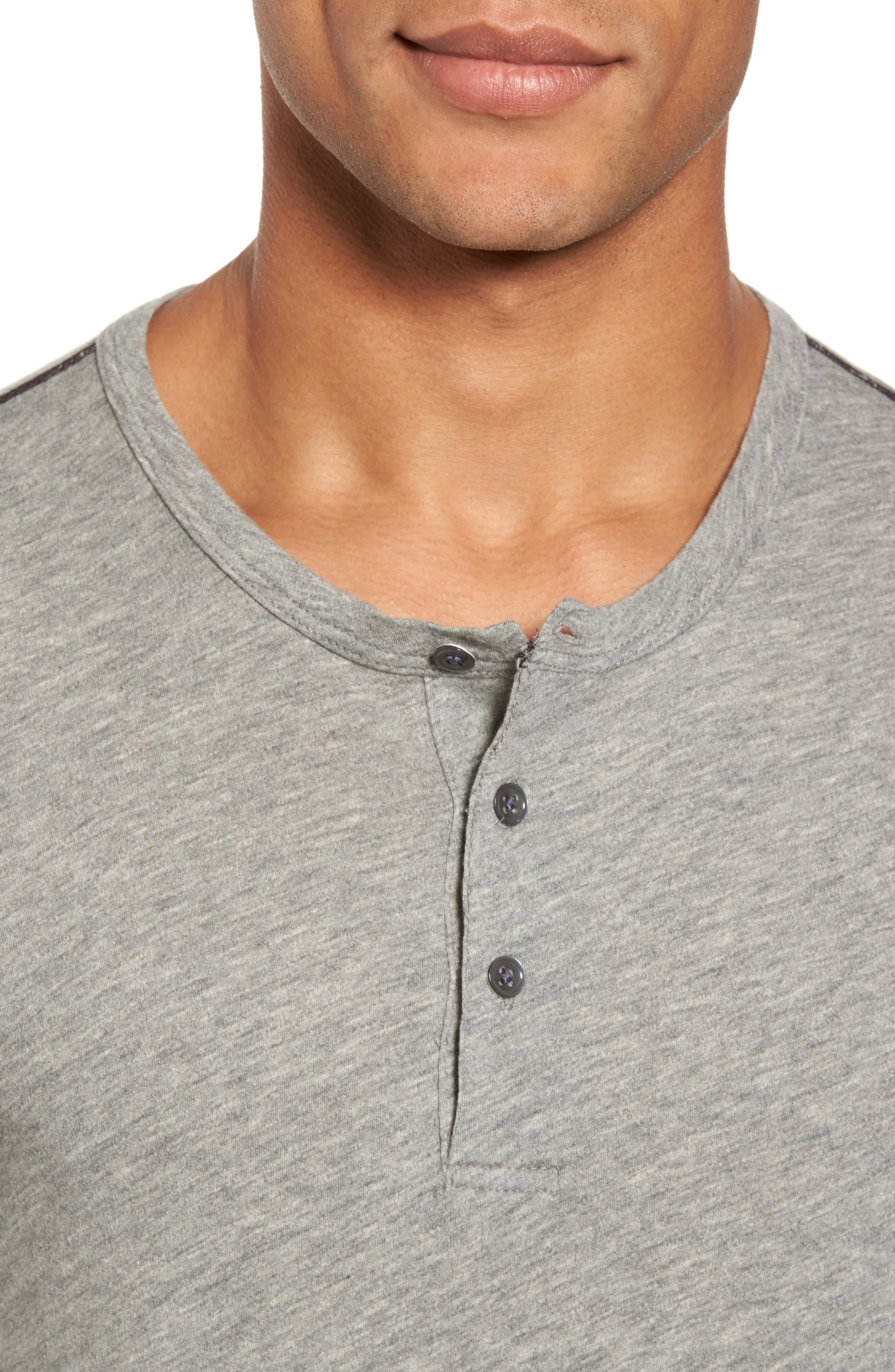 Contrast Stitch Henley T-Shirt,                             Alternate thumbnail 7, color,