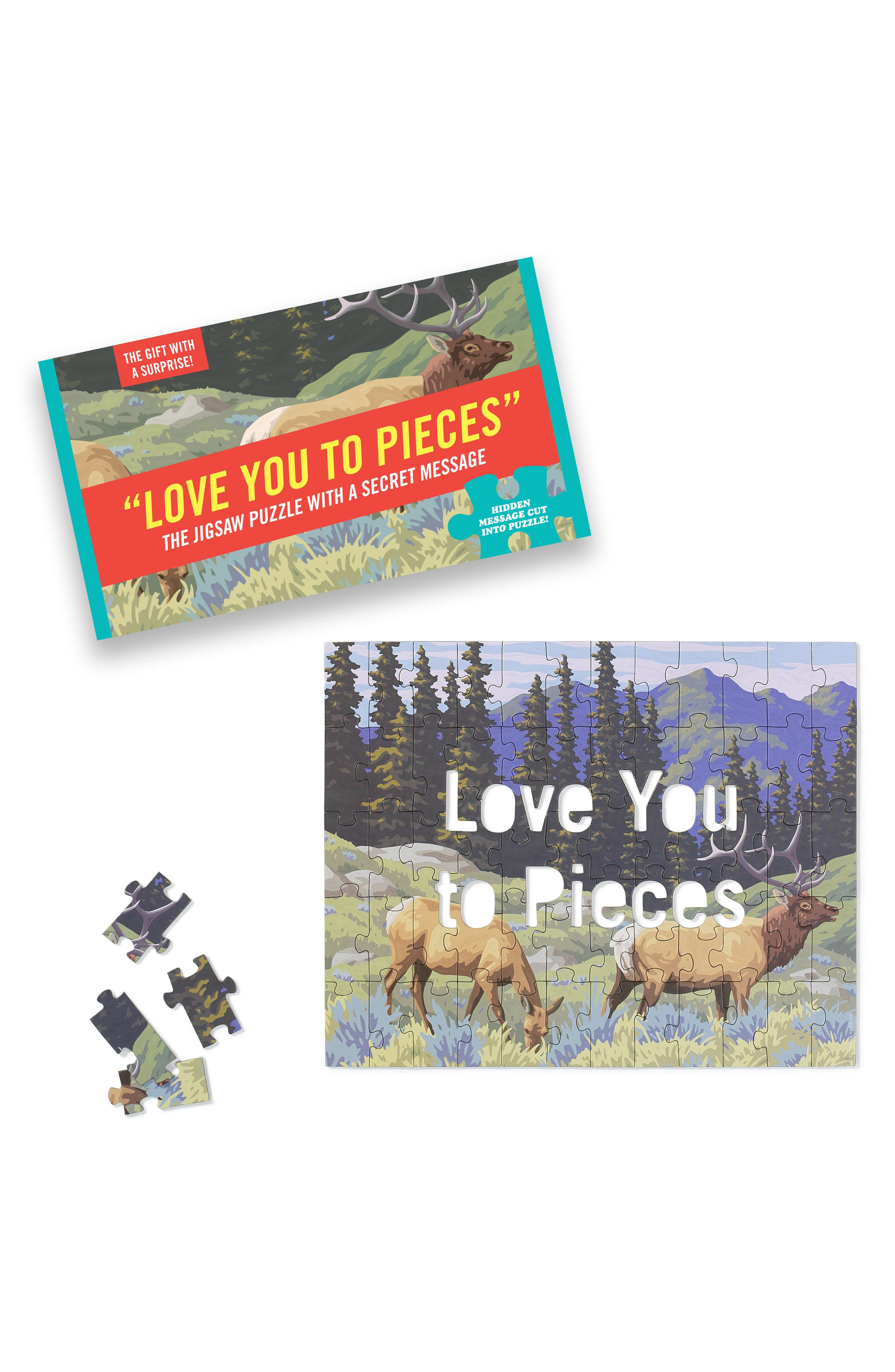Love You to Pieces Puzzle,                             Alternate thumbnail 2, color,                             600