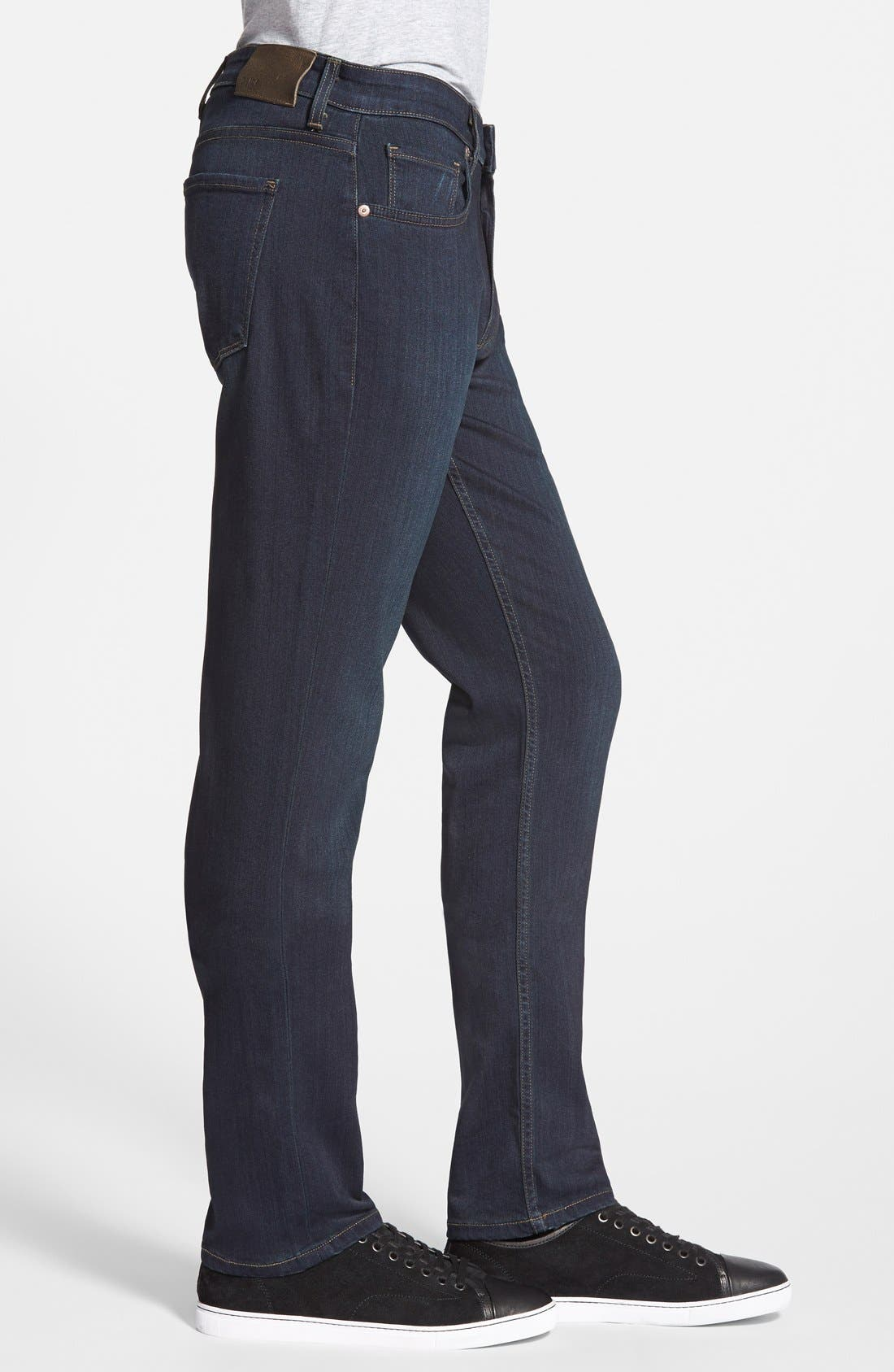 Transcend - Federal XL Slim Straight Leg Jeans,                             Alternate thumbnail 3, color,                             CELLAR/ CELLAR