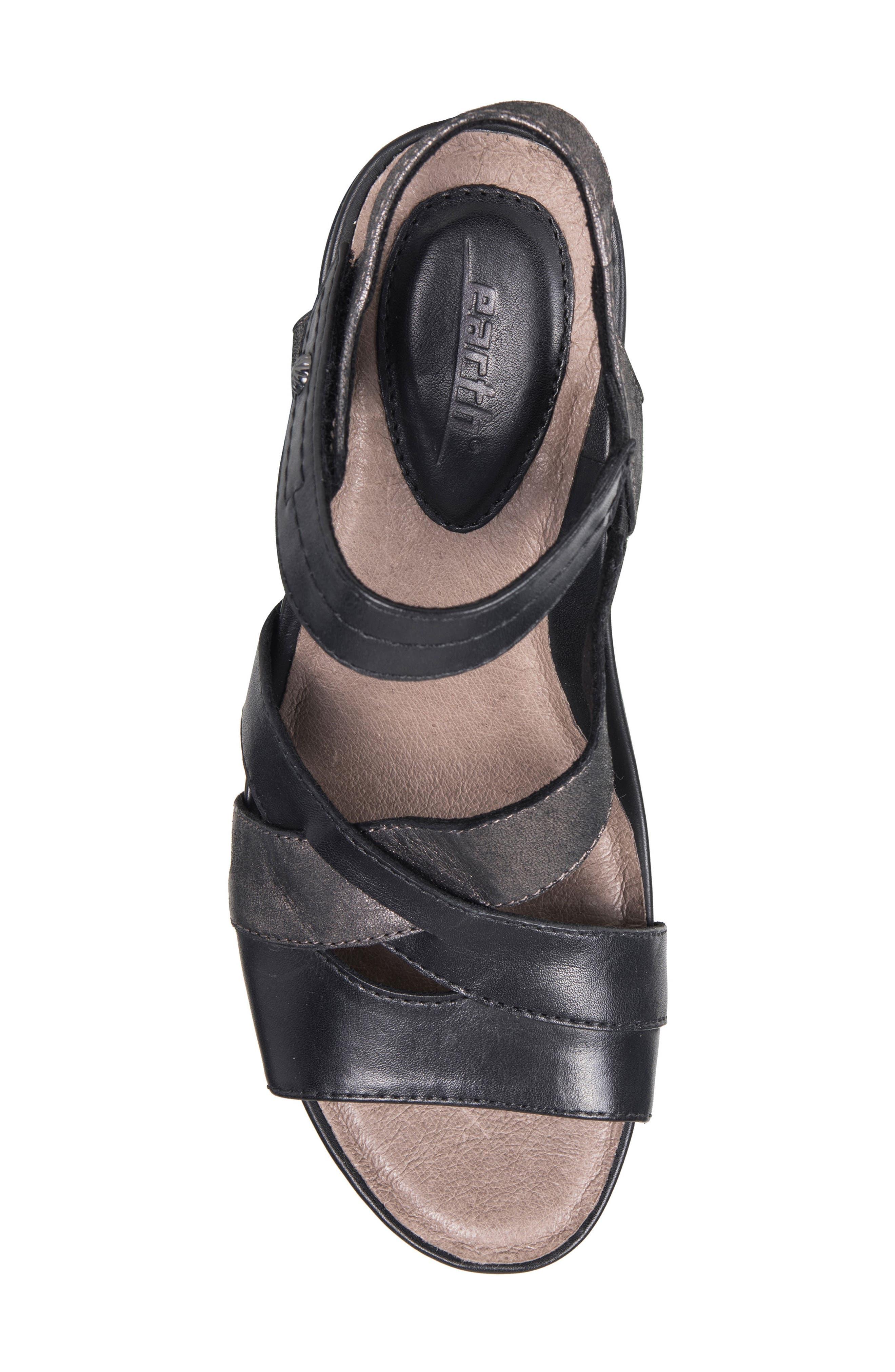 Thistle Wedge Sandal,                             Alternate thumbnail 4, color,                             001
