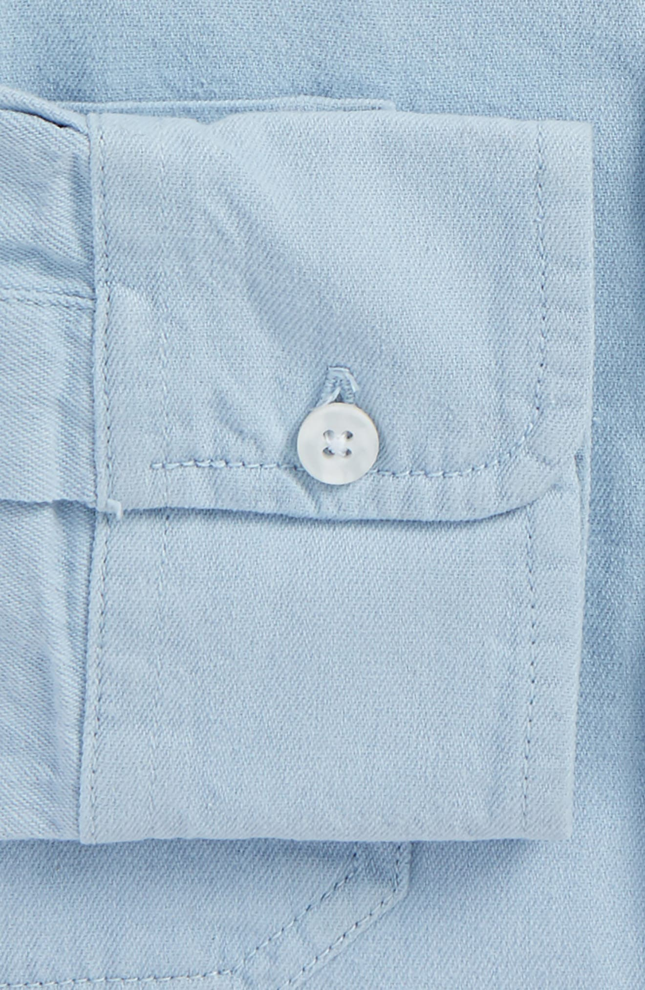 Washed Twill Shirt,                             Alternate thumbnail 5, color,                             400