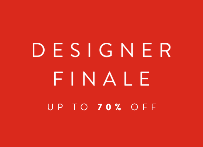Designer Finale: up to 70% off.