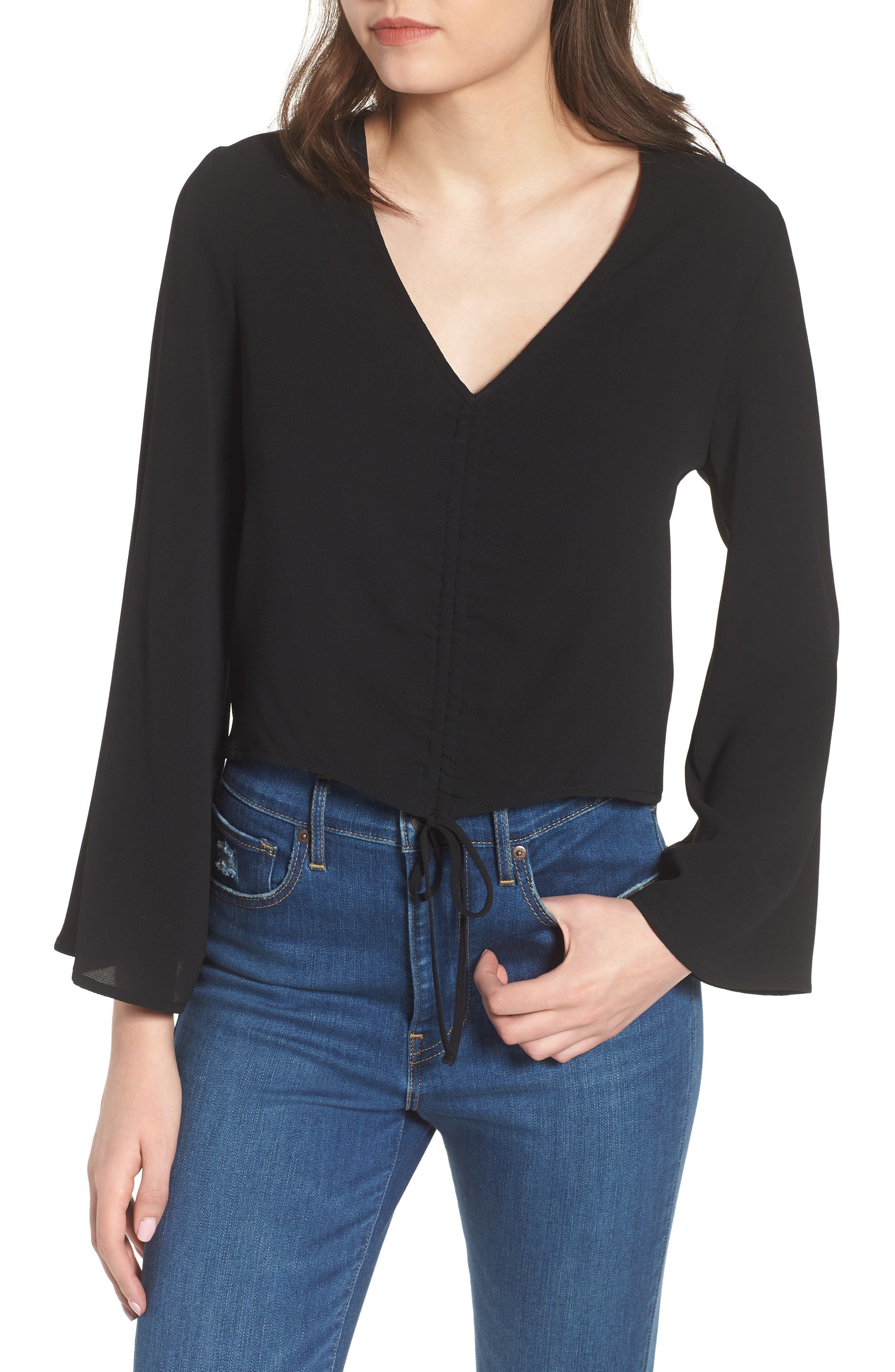 Ruched Front Top,                             Alternate thumbnail 10, color,