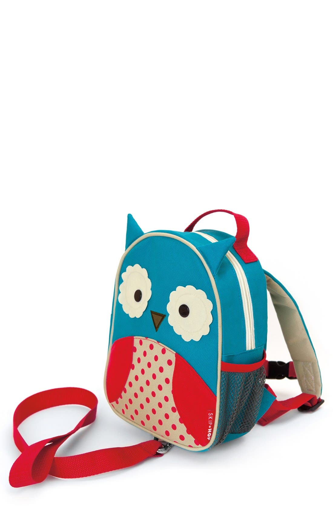 Monkey Zoo Safety Harness Backpack, Main, color, OWL