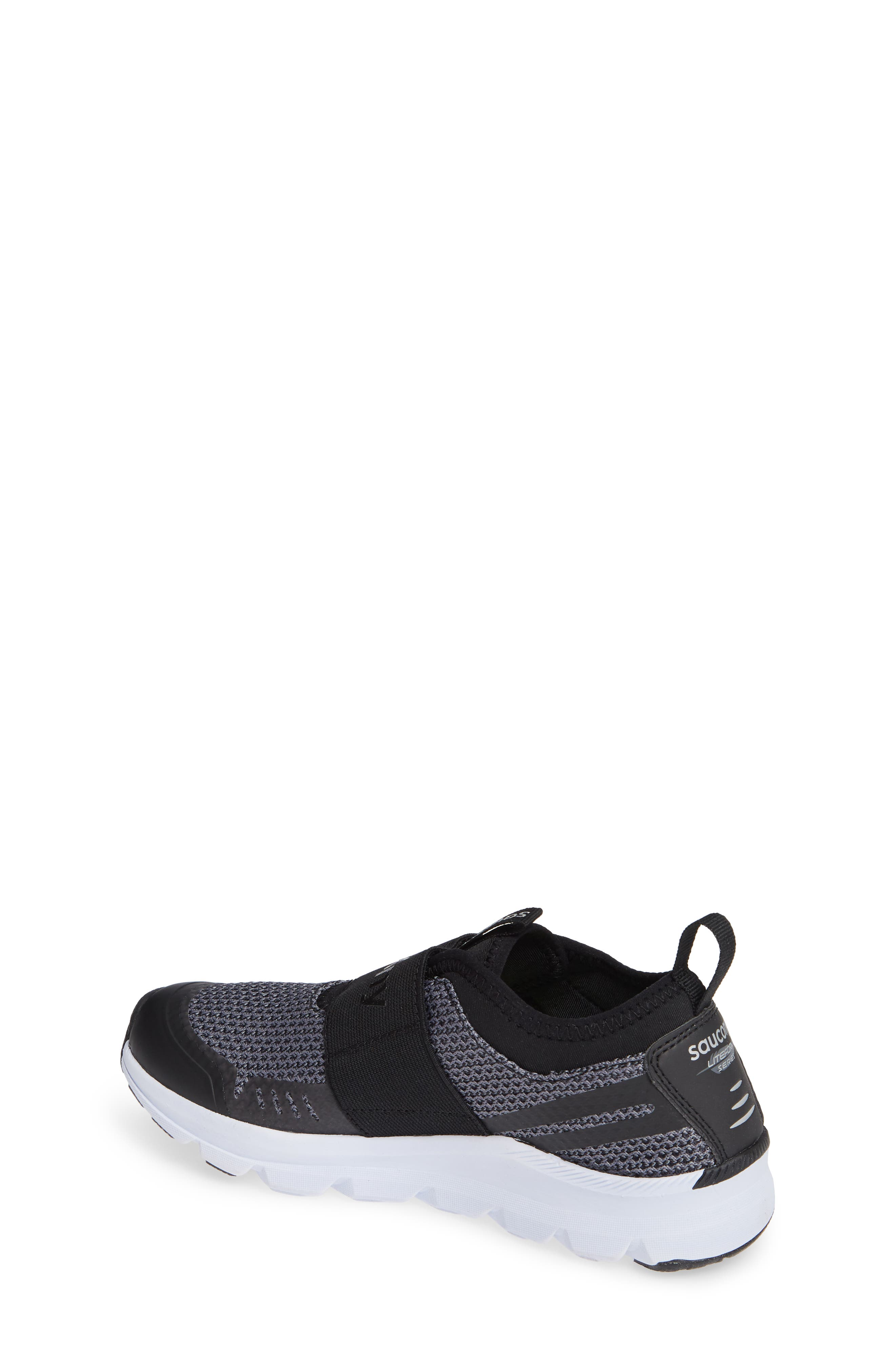 Liteform Stretch and Go A/C Sneaker,                             Alternate thumbnail 2, color,                             BLACK TEXTILE
