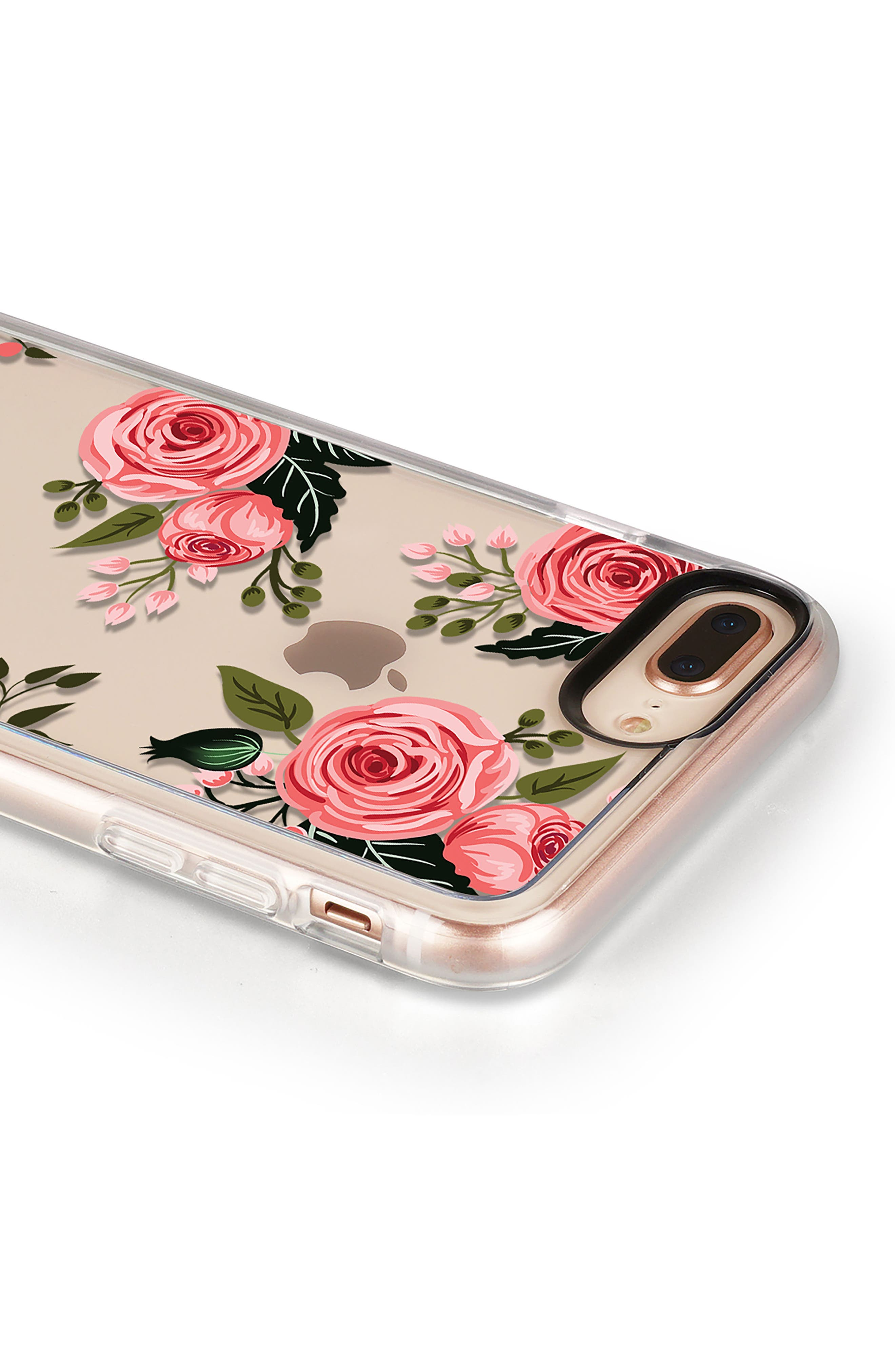 Pink Floral Grip iPhone 7/8 & 7/8 Plus Case,                             Alternate thumbnail 5, color,                             PINK