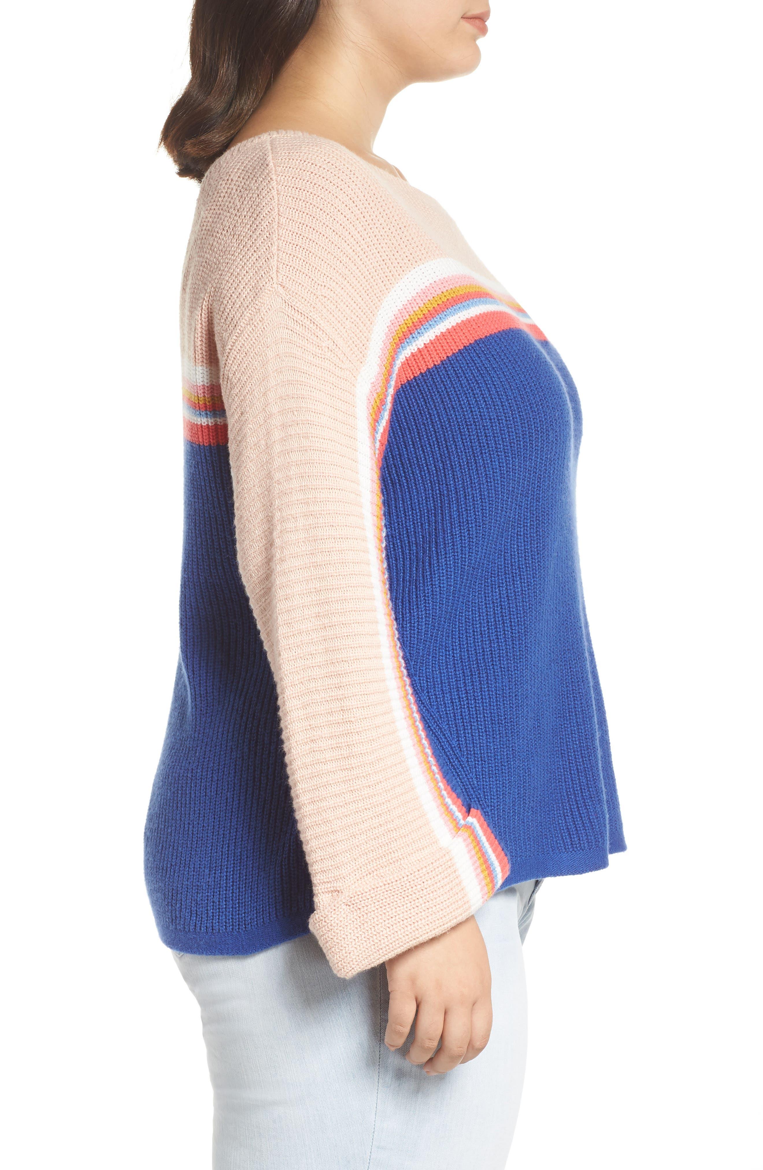Shaker Stitch Sweater,                             Alternate thumbnail 3, color,                             401