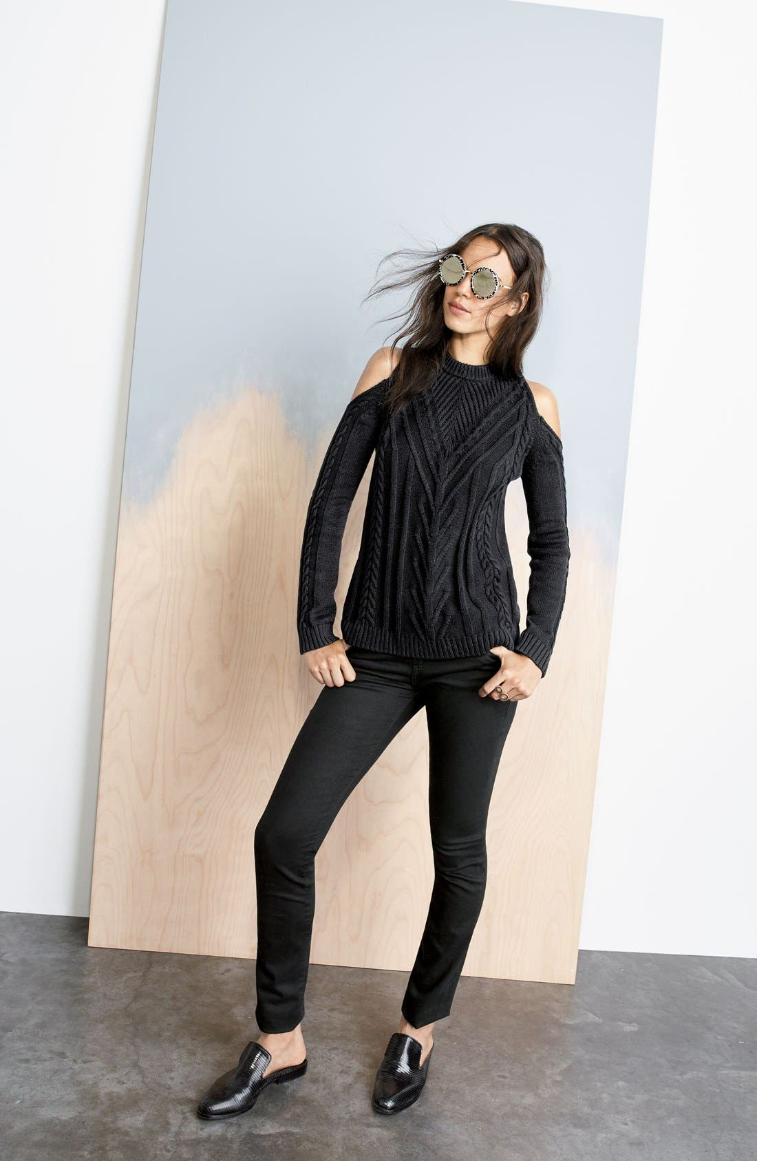 Cold Shoulder Sweater,                             Alternate thumbnail 2, color,                             006