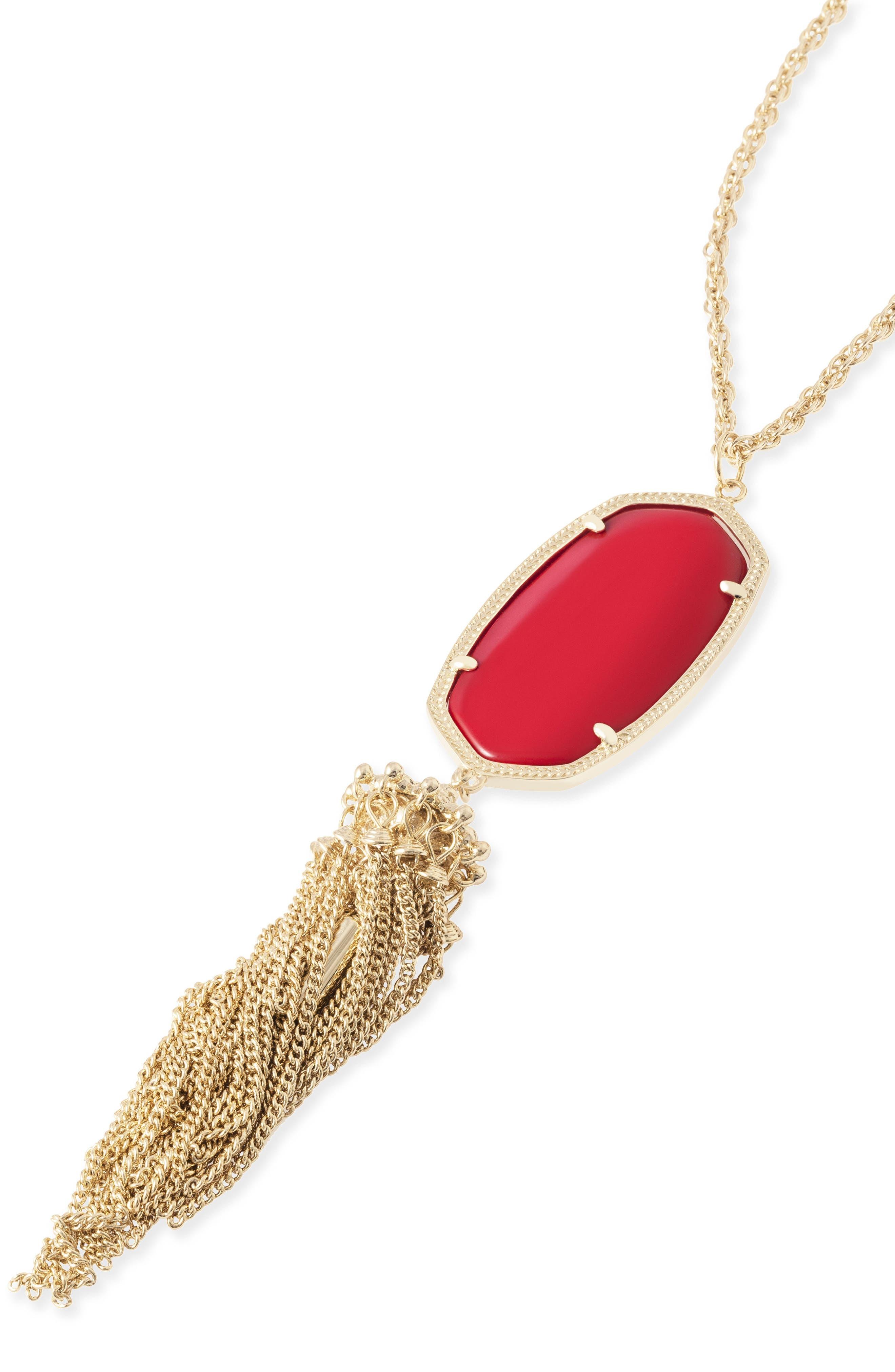 'Rayne' Tassel Pendant Necklace,                             Alternate thumbnail 14, color,