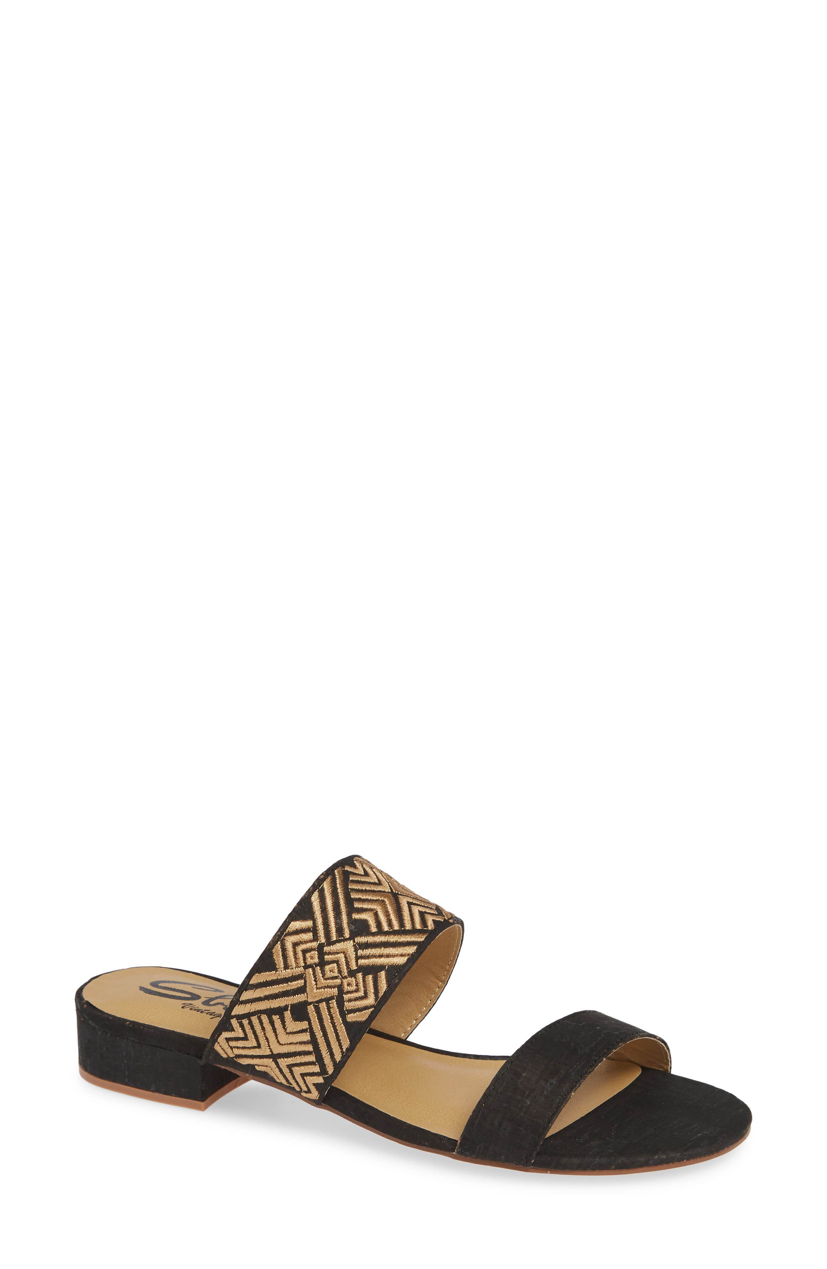 Valora Slide Sandal,                         Main,                         color, BLACK FABRIC
