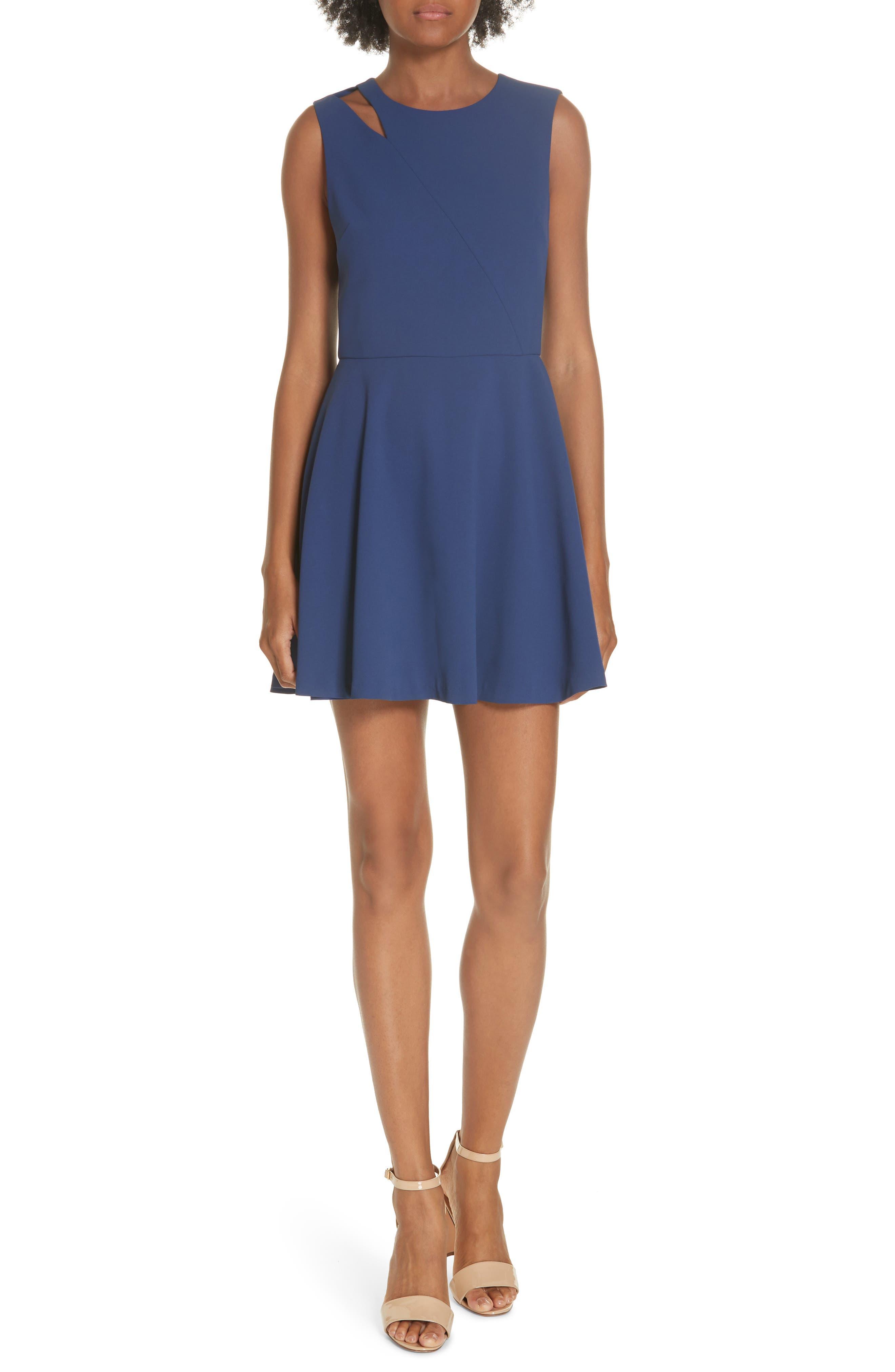 Pearlie Cutout Minidress,                         Main,                         color, INDIGO