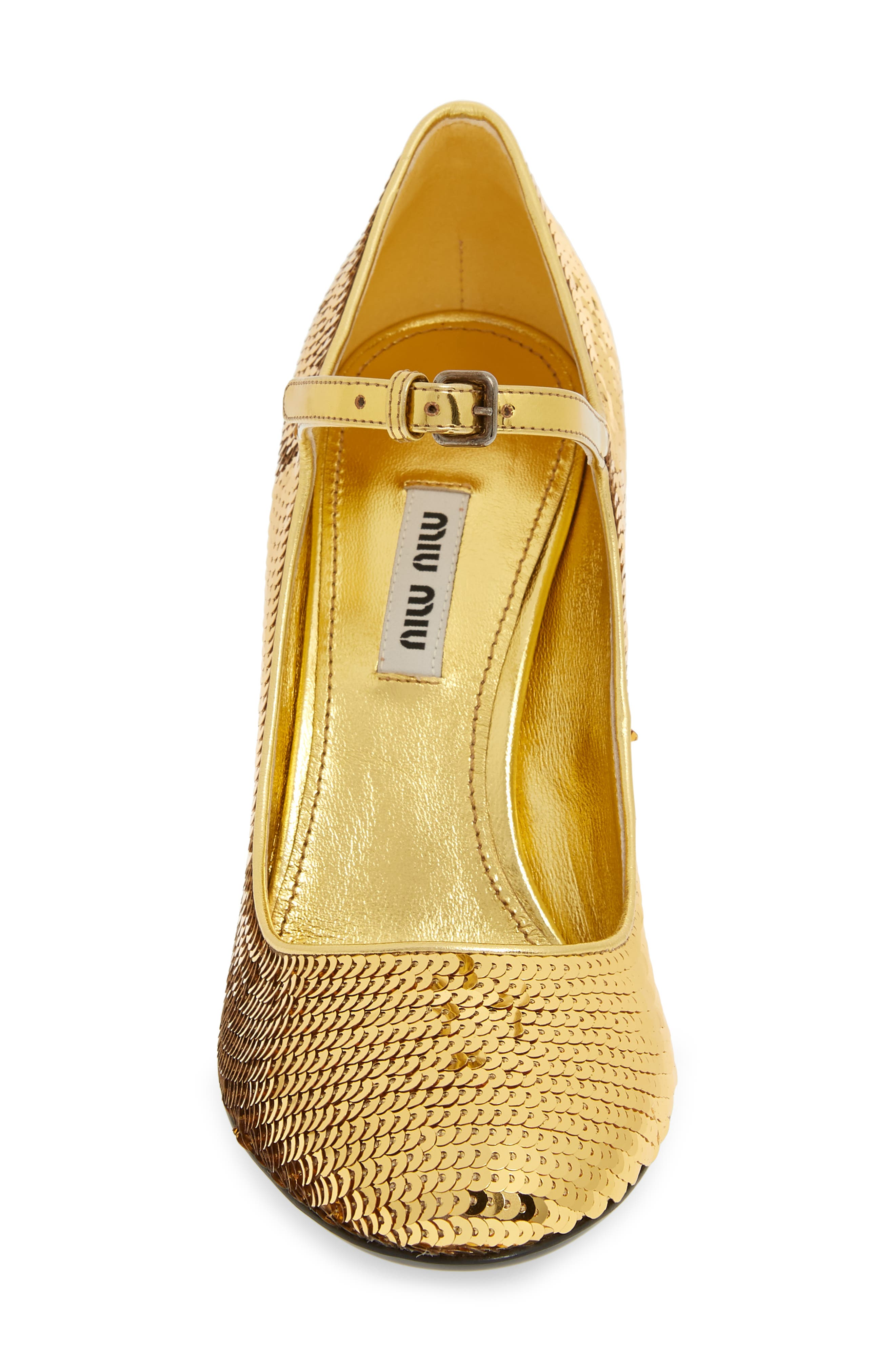 Sequin Mary Jane Pump,                             Alternate thumbnail 4, color,                             GOLD