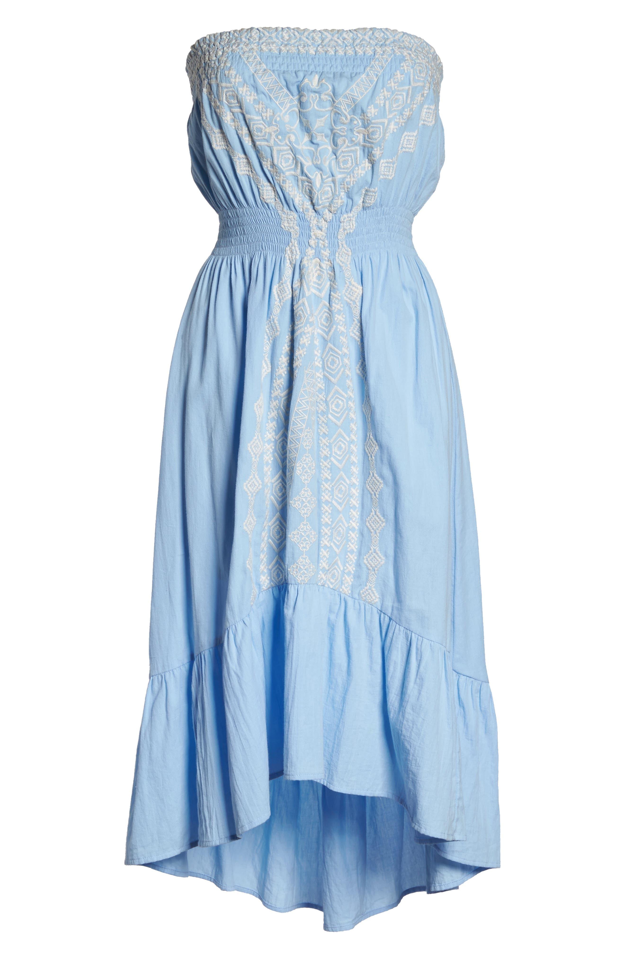 Strapless Midi Dress,                             Alternate thumbnail 6, color,                             460