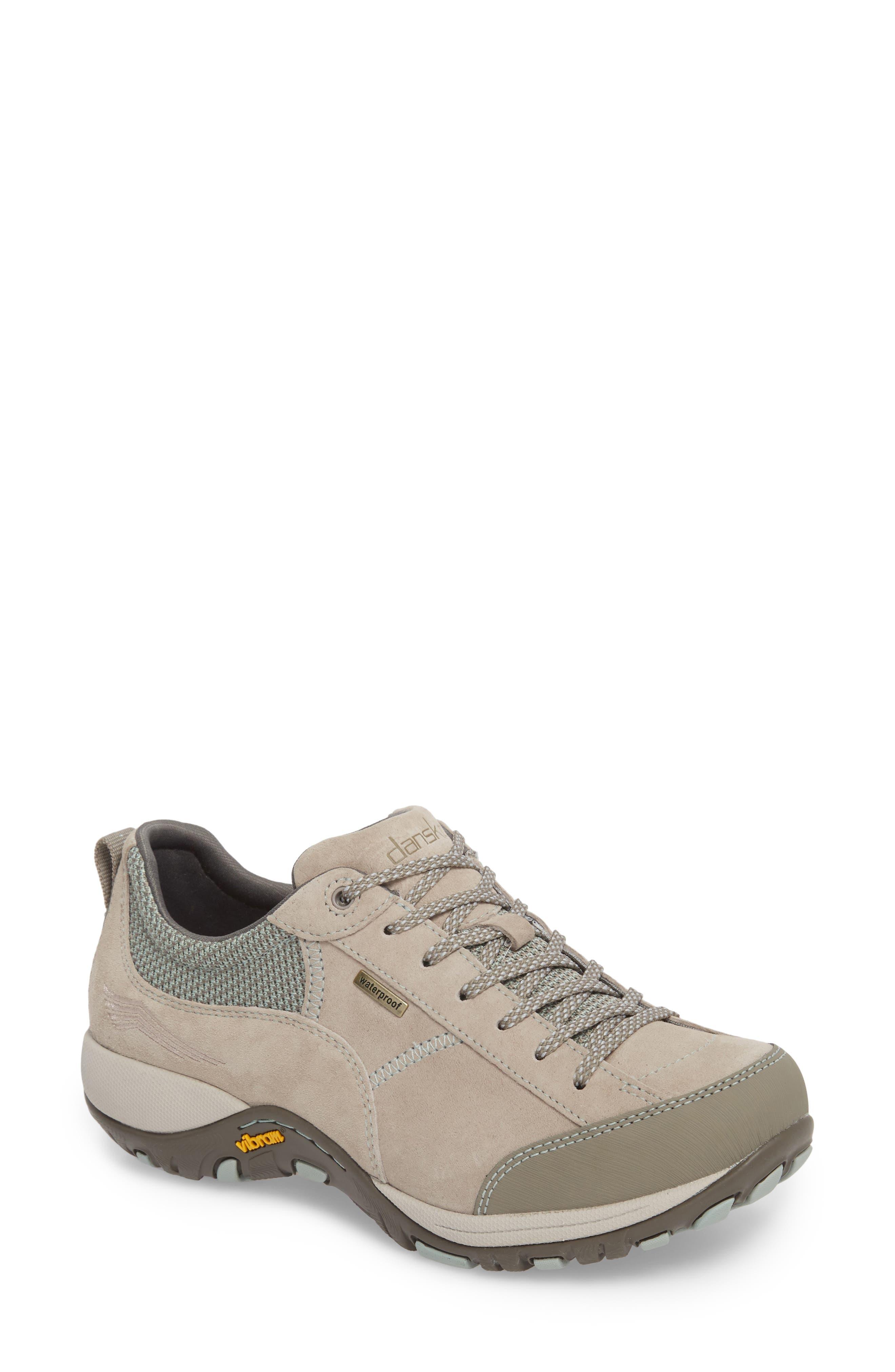 Paisley Waterproof Sneaker,                         Main,                         color, STONE SUEDE