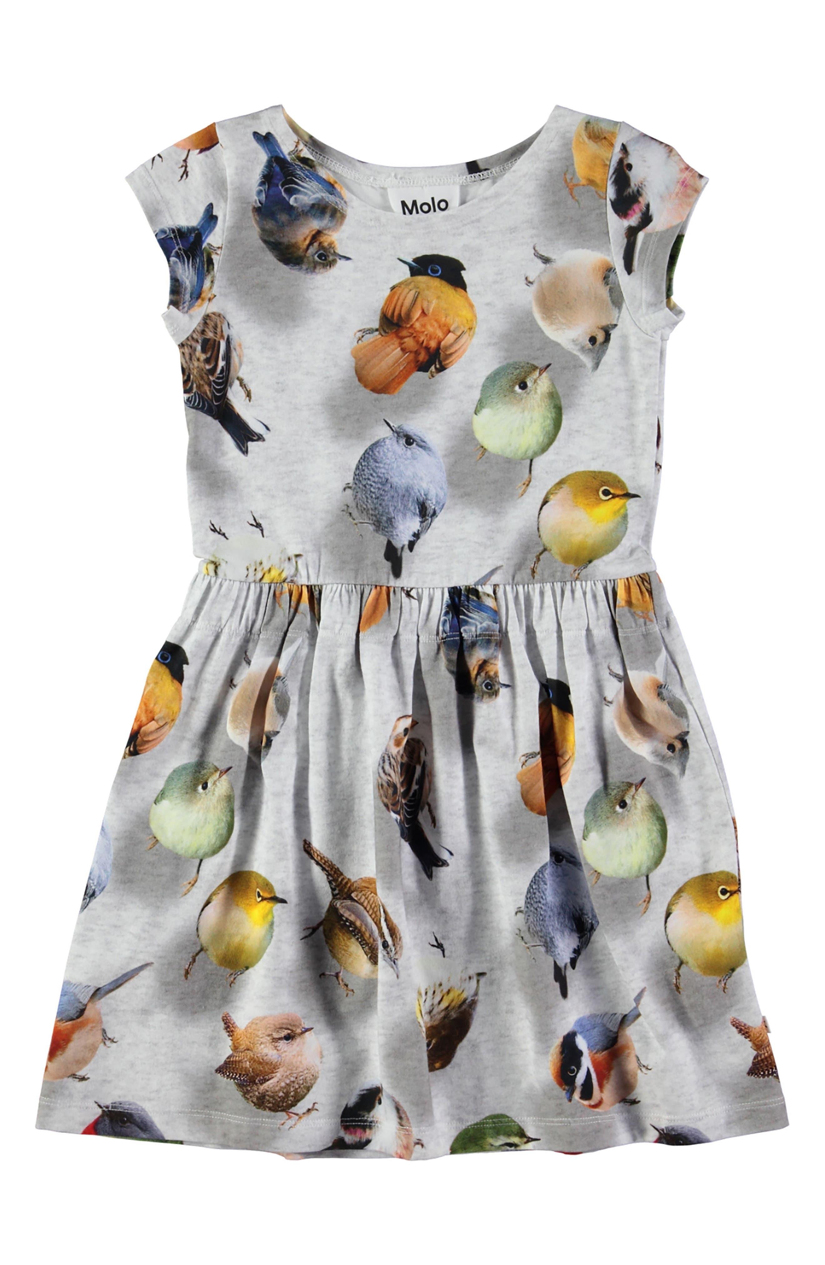 Carla Print Jersey Dress,                             Alternate thumbnail 3, color,