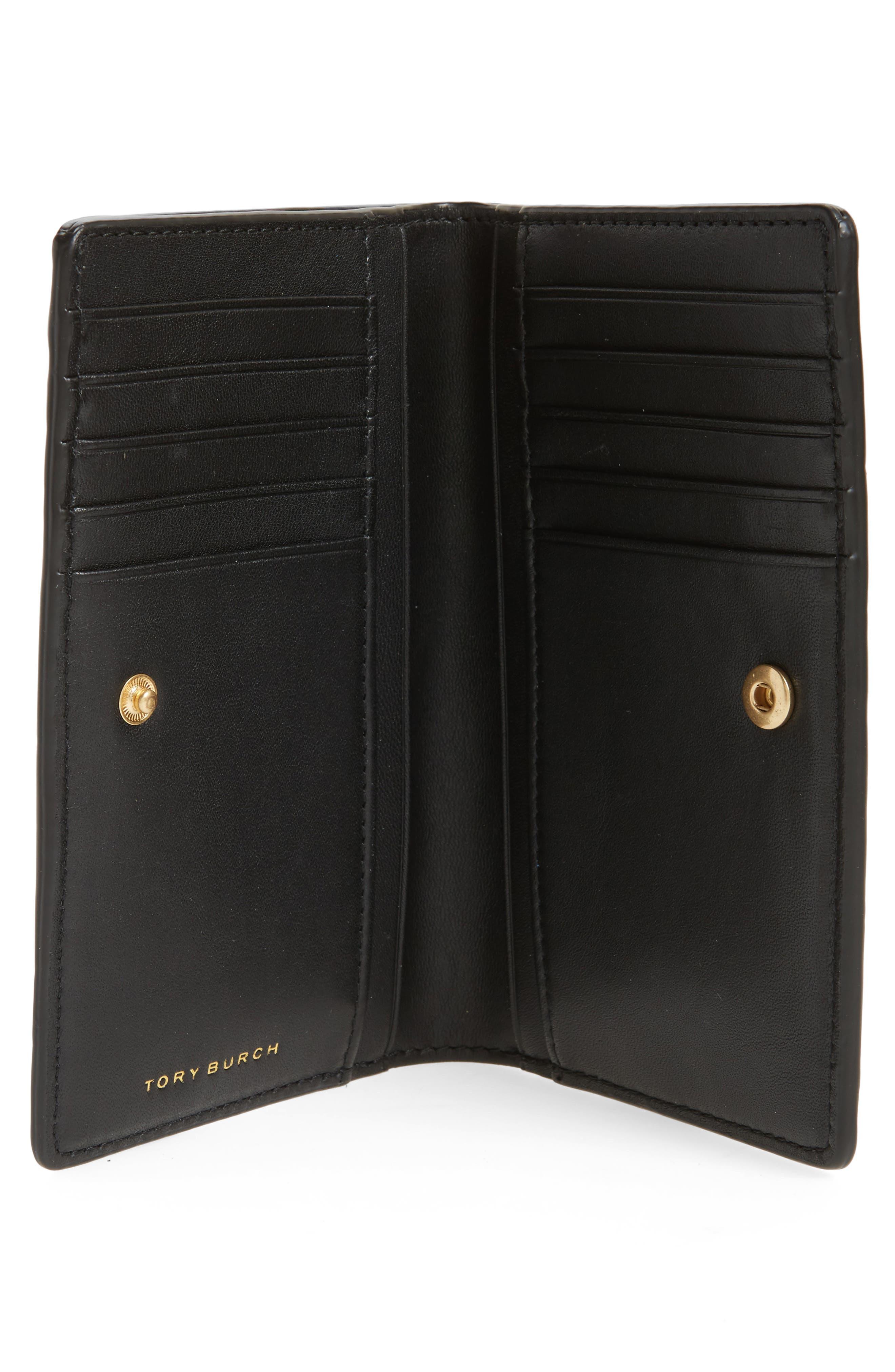 Medium Georgia Slim Leather Wallet,                             Alternate thumbnail 2, color,                             001